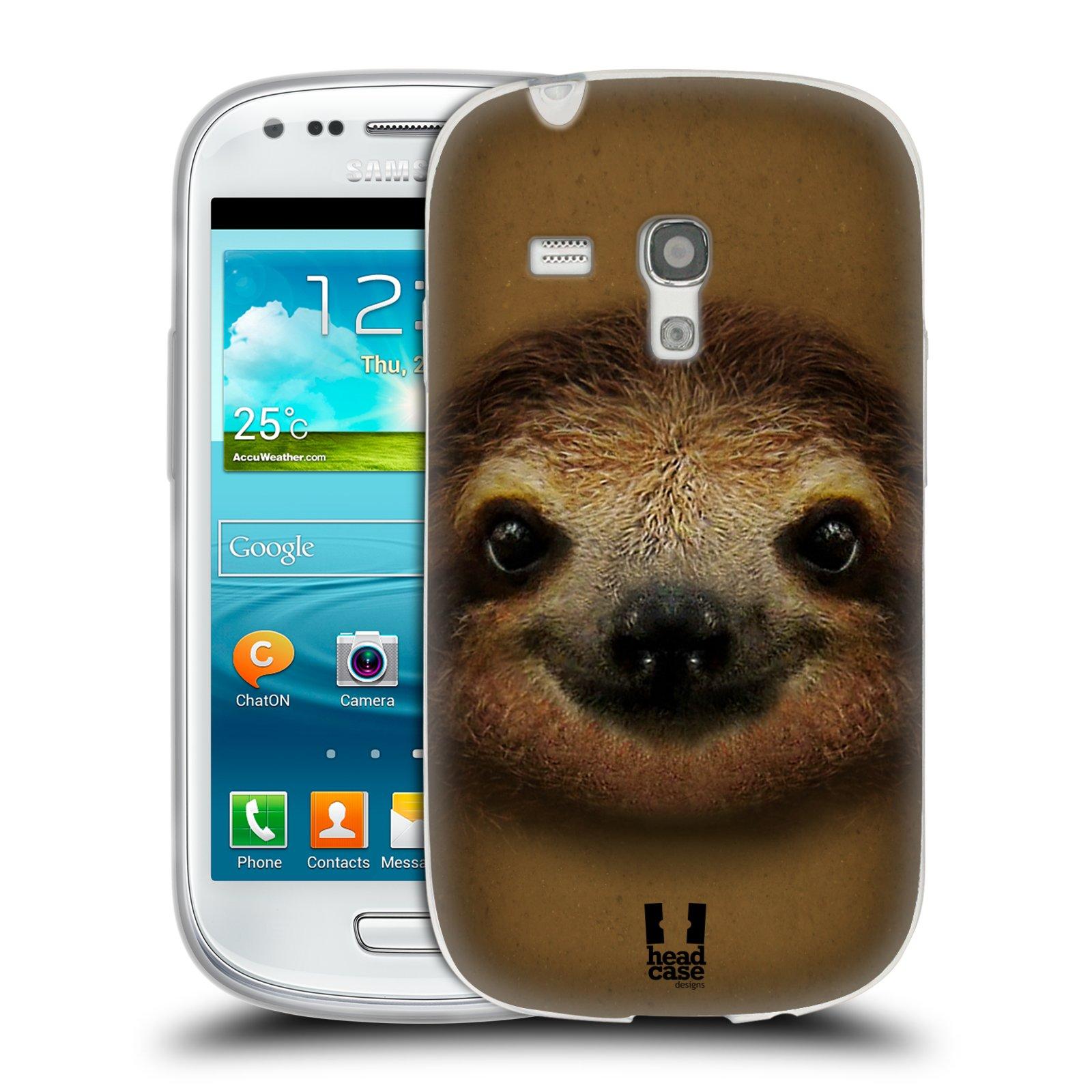 HEAD CASE silikonový obal na mobil Samsung Galaxy S3 MINI i8190 vzor Zvířecí tváře 2 lenochod