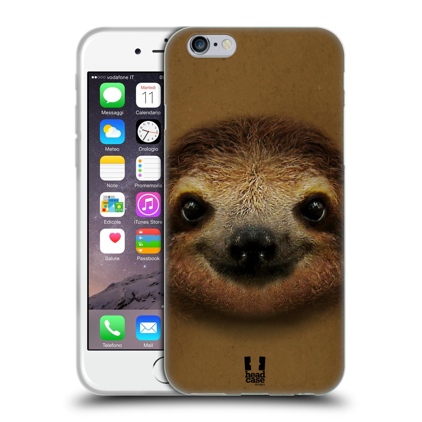 HEAD CASE silikonový obal na mobil Apple Iphone 6/6S vzor Zvířecí tváře 2 lenochod