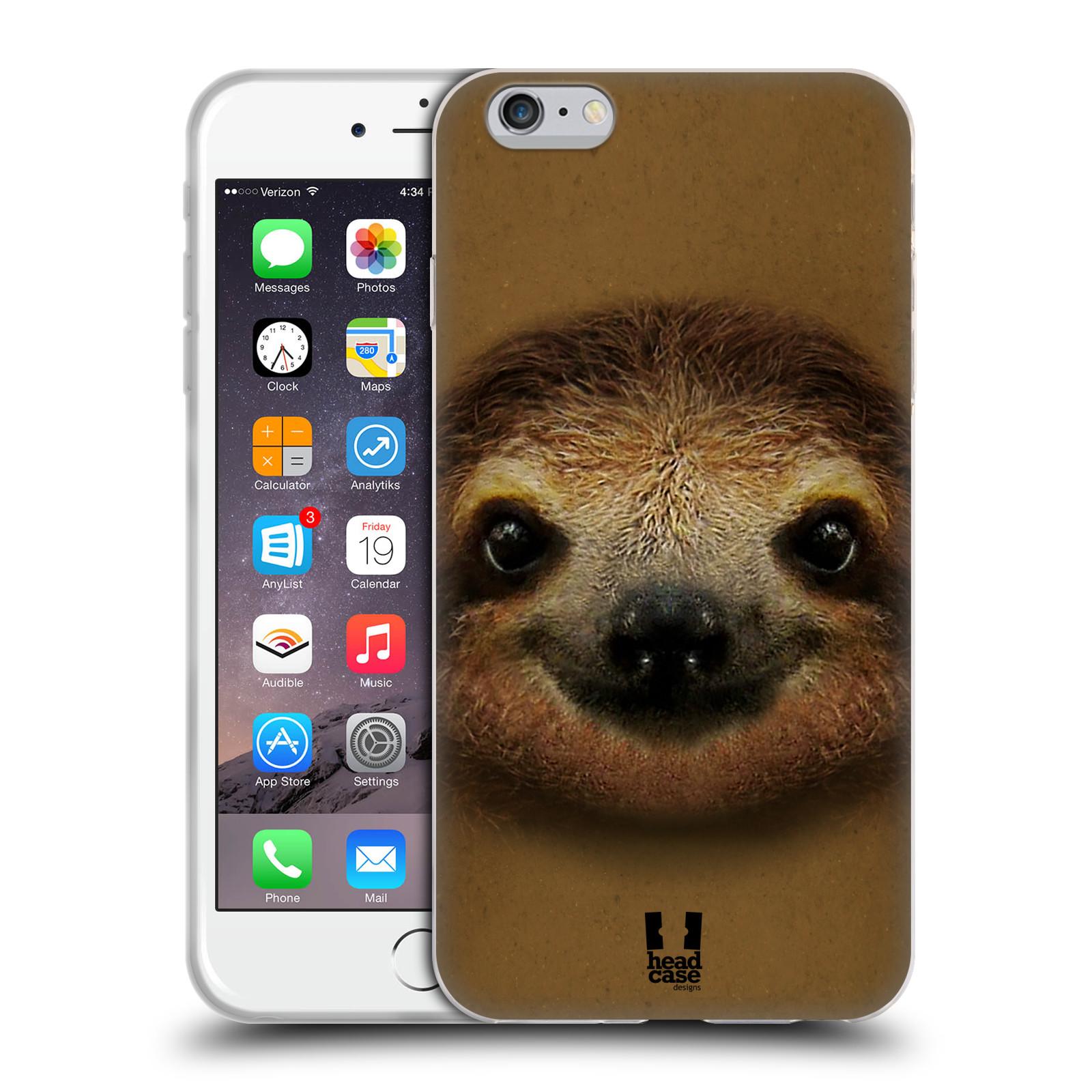 HEAD CASE silikonový obal na mobil Apple Iphone 6 PLUS/ 6S PLUS vzor Zvířecí tváře 2 lenochod