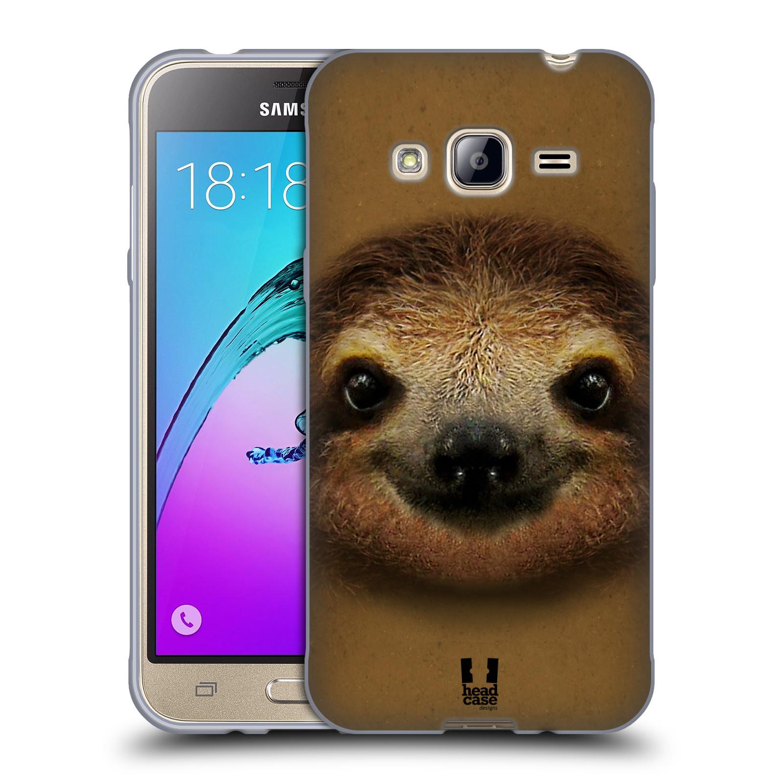HEAD CASE silikonový obal na mobil Samsung Galaxy J3, J3 2016 vzor Zvířecí tváře 2 lenochod
