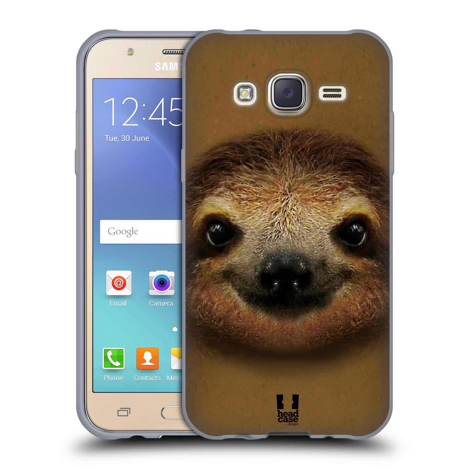 HEAD CASE silikonový obal na mobil Samsung Galaxy J5, J500, (J5 DUOS) vzor Zvířecí tváře 2 lenochod