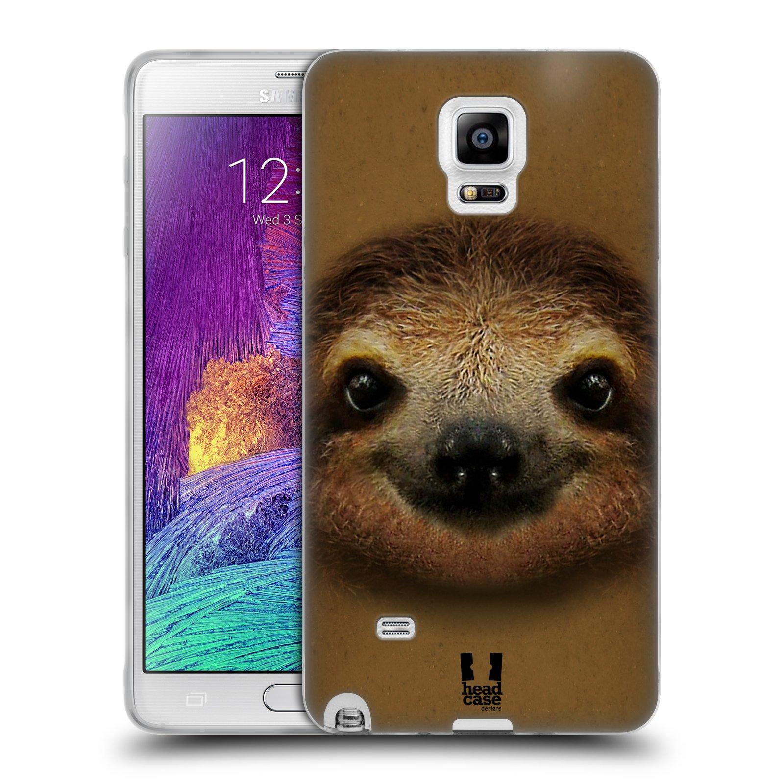 HEAD CASE silikonový obal na mobil Samsung Galaxy Note 4 (N910) vzor Zvířecí tváře 2 lenochod