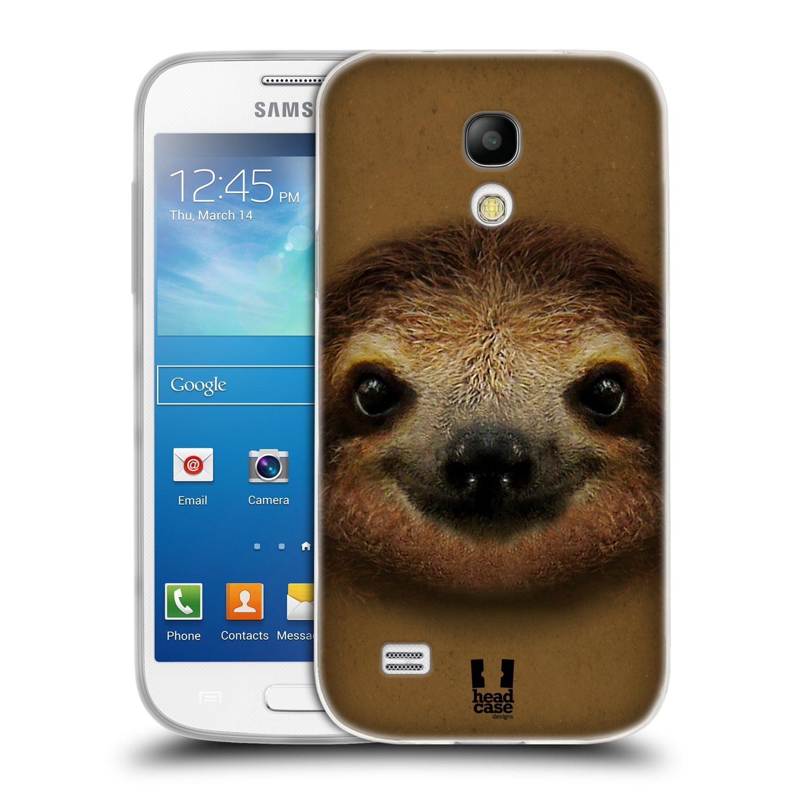 HEAD CASE silikonový obal na mobil Samsung Galaxy S4 MINI vzor Zvířecí tváře 2 lenochod
