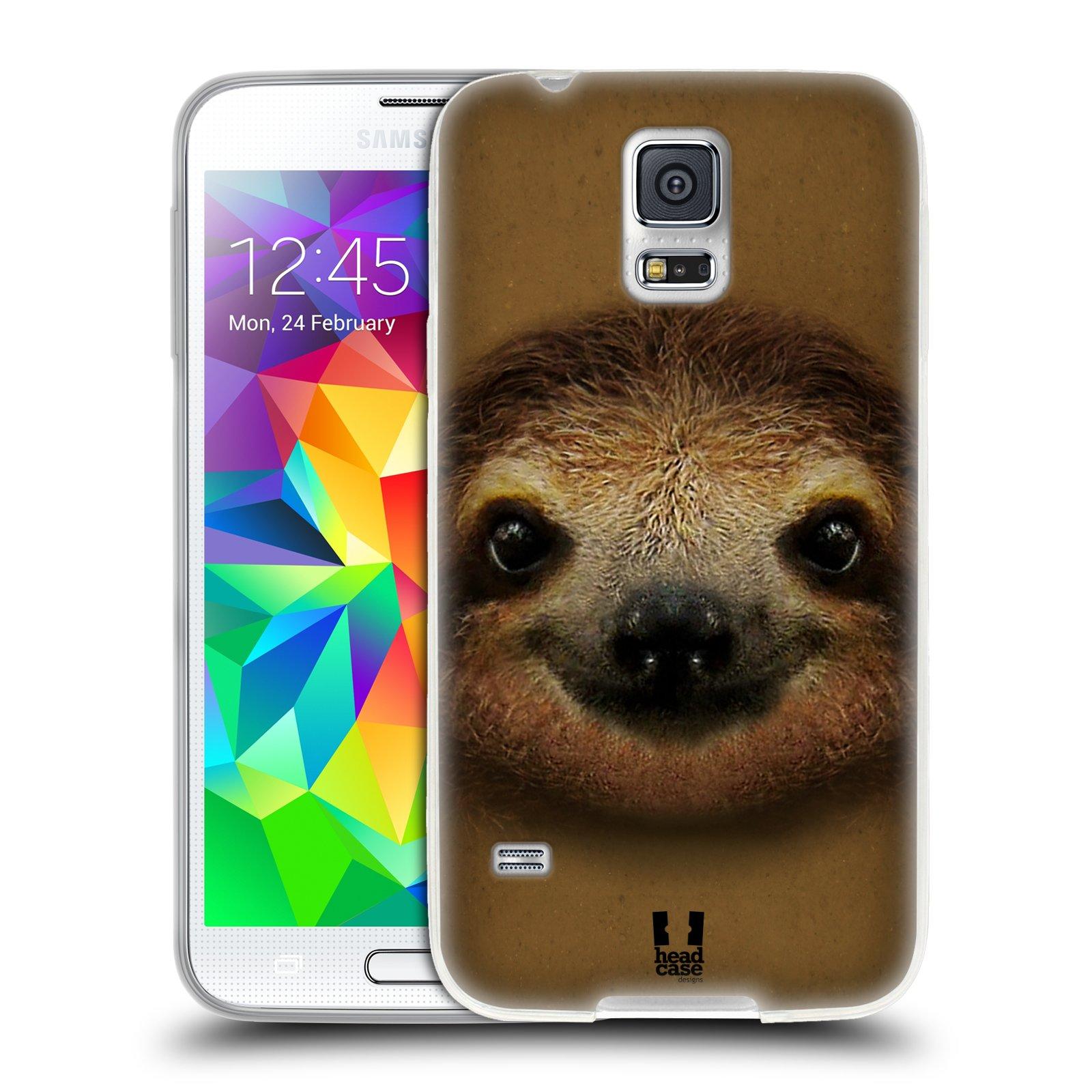 HEAD CASE silikonový obal na mobil Samsung Galaxy S5/S5 NEO vzor Zvířecí tváře 2 lenochod