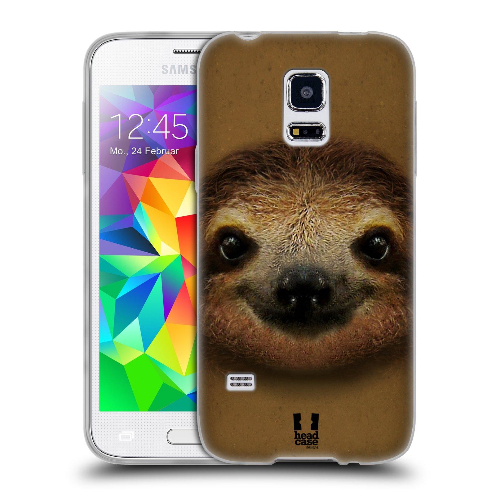 HEAD CASE silikonový obal na mobil Samsung Galaxy S5 MINI vzor Zvířecí tváře 2 lenochod