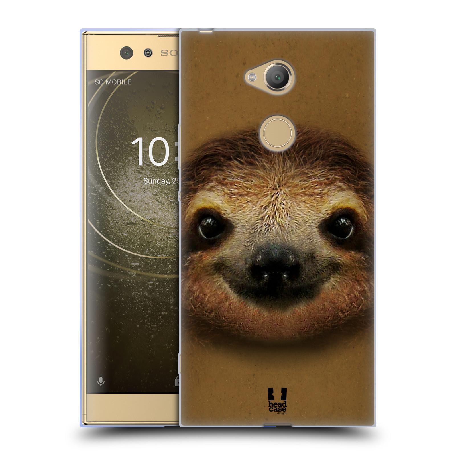 Pouzdro na mobil Sony Xperia XA2 Ultra vzor Zvířecí tváře 2 lenochod