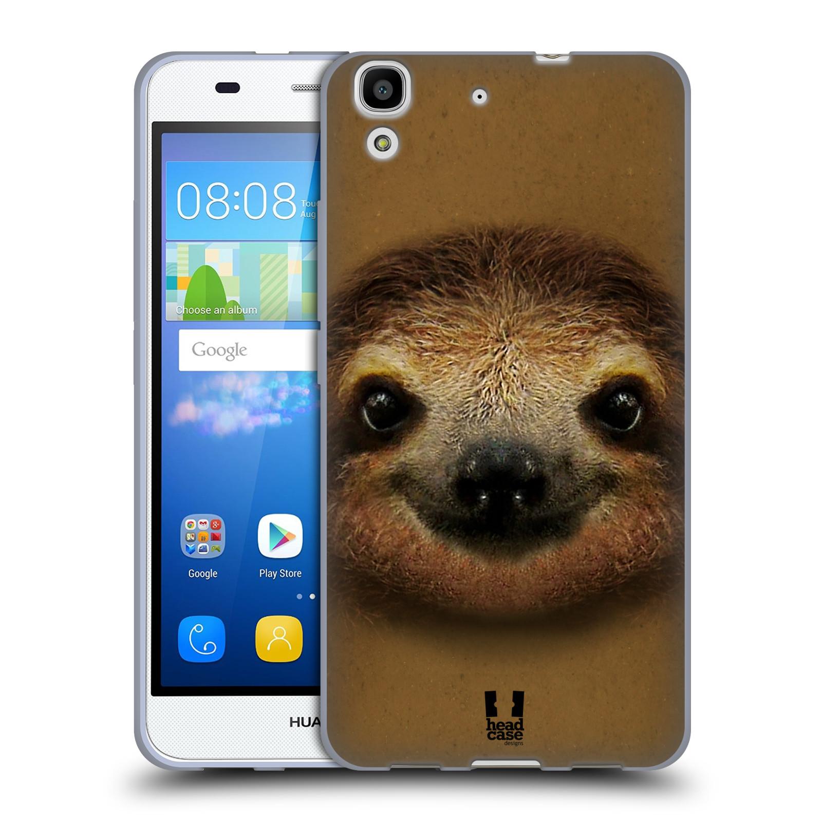 HEAD CASE silikonový obal na mobil HUAWEI Y6 vzor Zvířecí tváře 2 lenochod