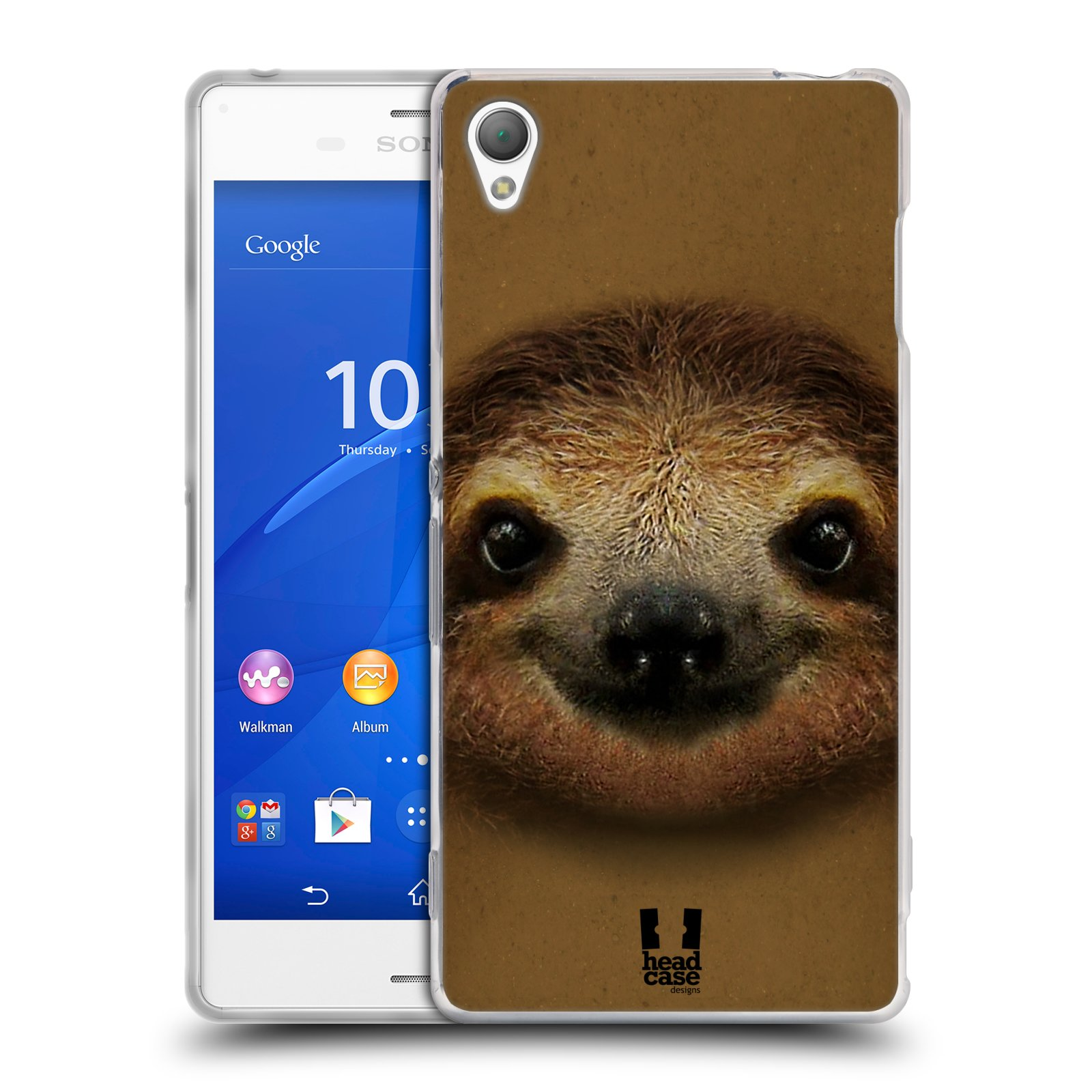 HEAD CASE silikonový obal na mobil Sony Xperia Z3 vzor Zvířecí tváře 2 lenochod