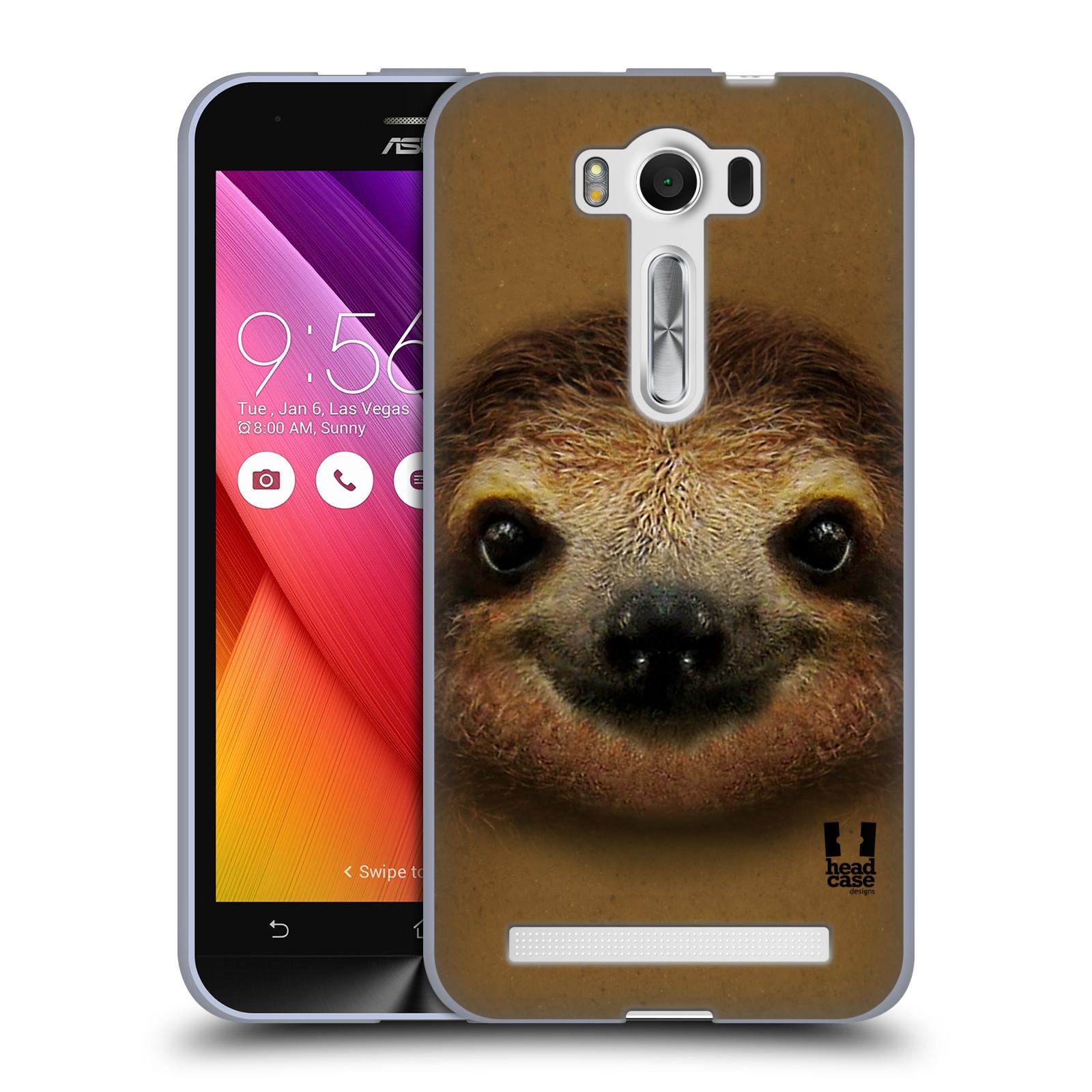 """HEAD CASE silikonový obal na mobil Asus Zenfone 2 LASER (ZE500KL s 5"""" displejem) vzor Zvířecí tváře 2 lenochod"""