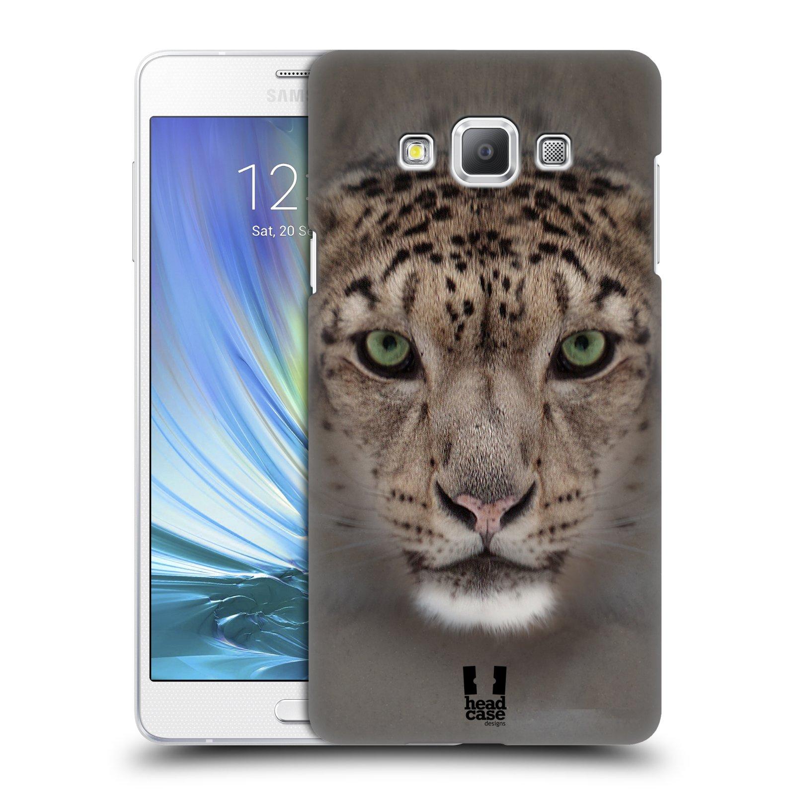 HEAD CASE plastový obal na mobil SAMSUNG GALAXY A7 vzor Zvířecí tváře 2 sněžný leopard