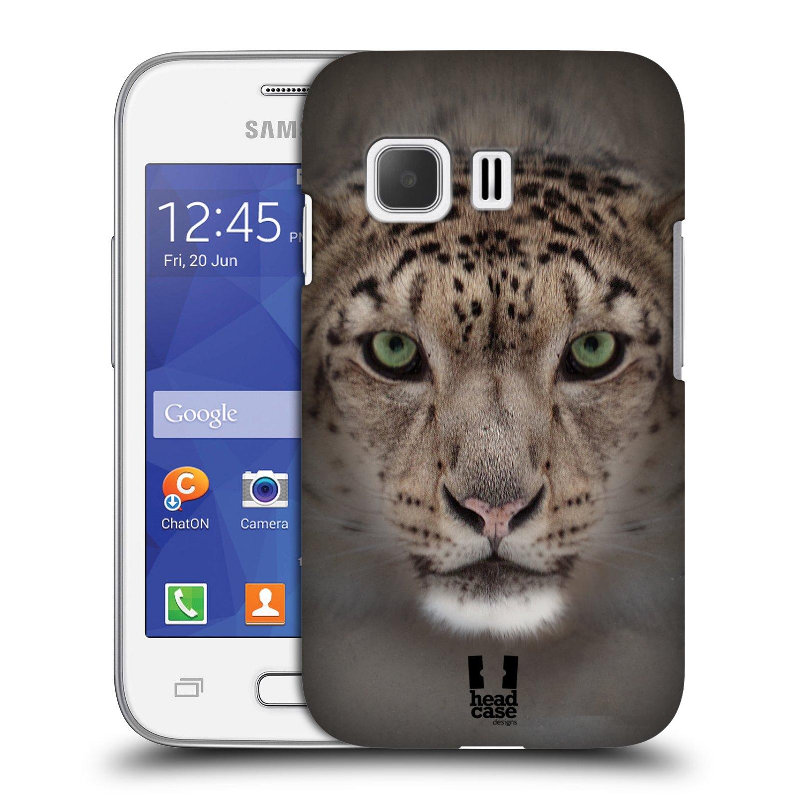 HEAD CASE plastový obal na mobil SAMSUNG Galaxy Young 2 (G130) vzor Zvířecí tváře 2 sněžný leopard