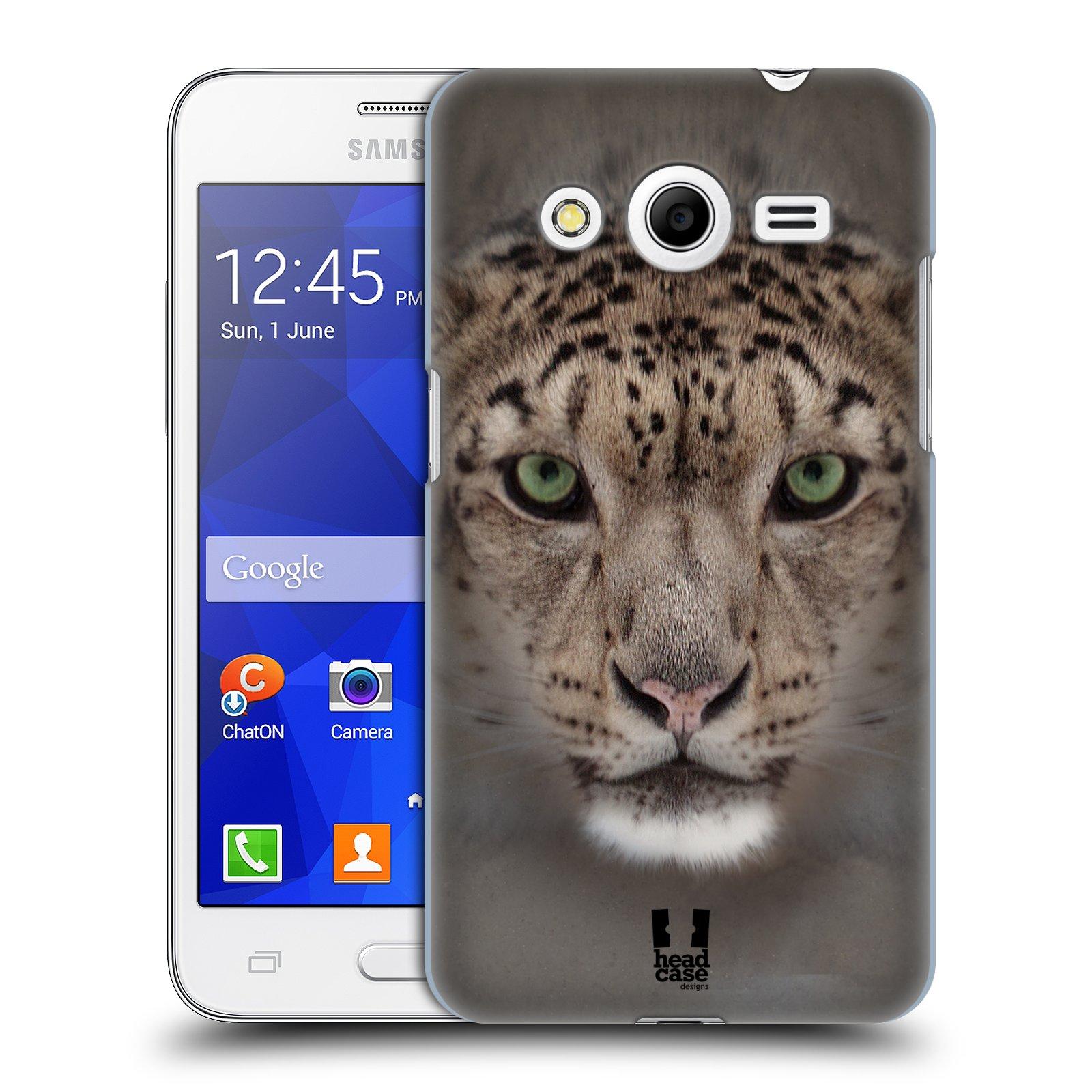 HEAD CASE plastový obal na mobil SAMSUNG GALAXY Core 2 (G355H) vzor Zvířecí tváře 2 sněžný leopard