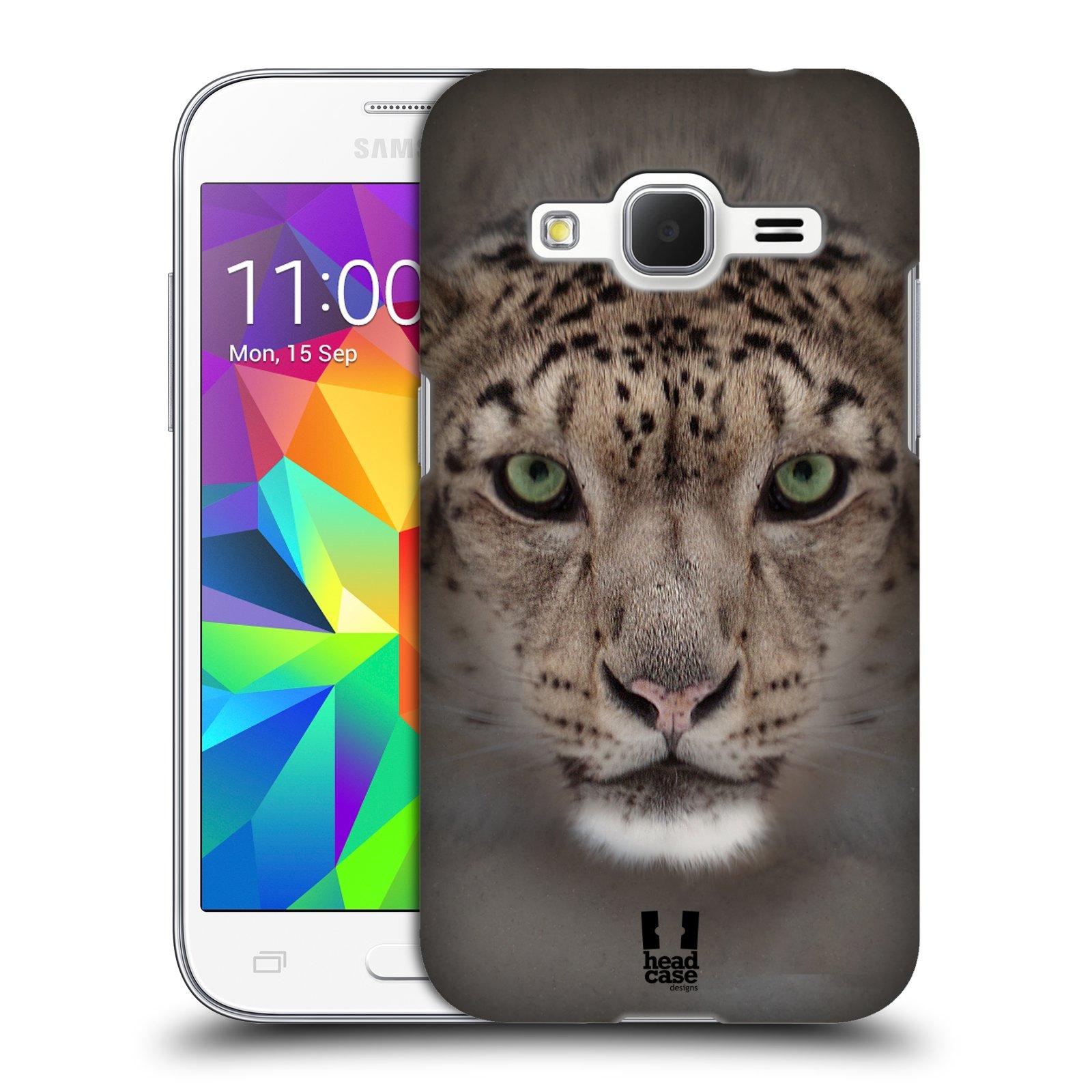 HEAD CASE plastový obal na mobil SAMSUNG GALAXY Core Prime (Core Prime VE) vzor Zvířecí tváře 2 sněžný leopard