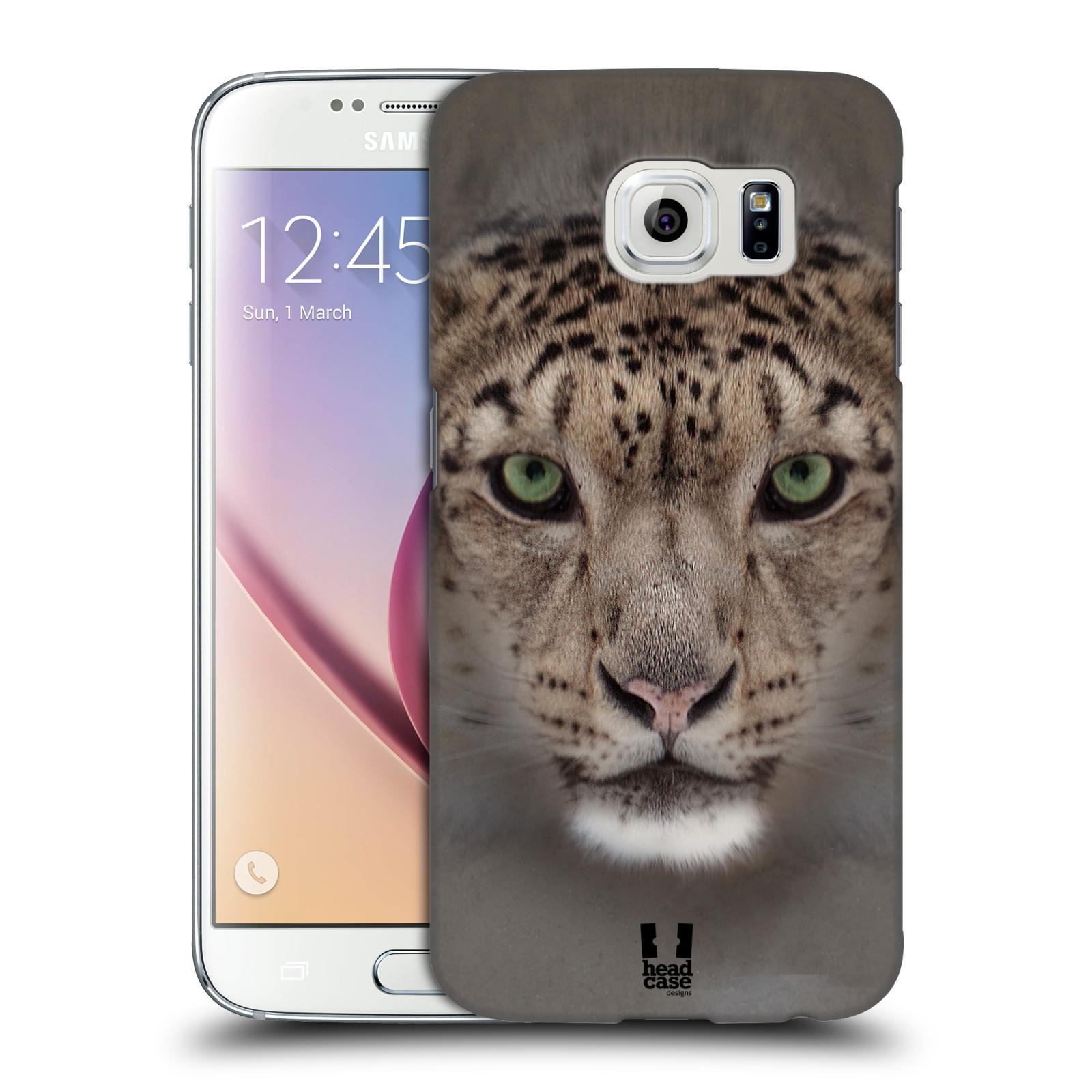 HEAD CASE plastový obal na mobil SAMSUNG Galaxy S6 (G9200, G920F) vzor Zvířecí tváře 2 sněžný leopard