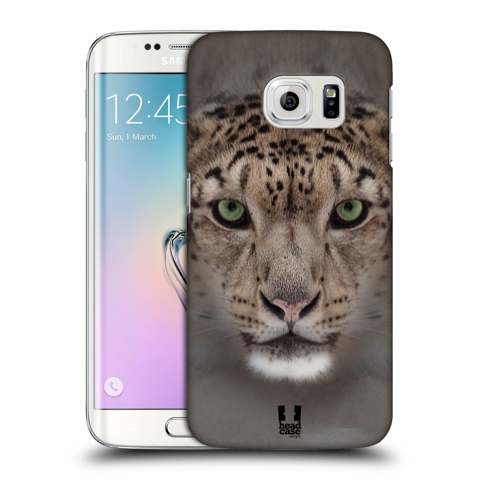 HEAD CASE plastový obal na mobil SAMSUNG Galaxy S6 EDGE (G9250, G925, G925F) vzor Zvířecí tváře 2 sněžný leopard