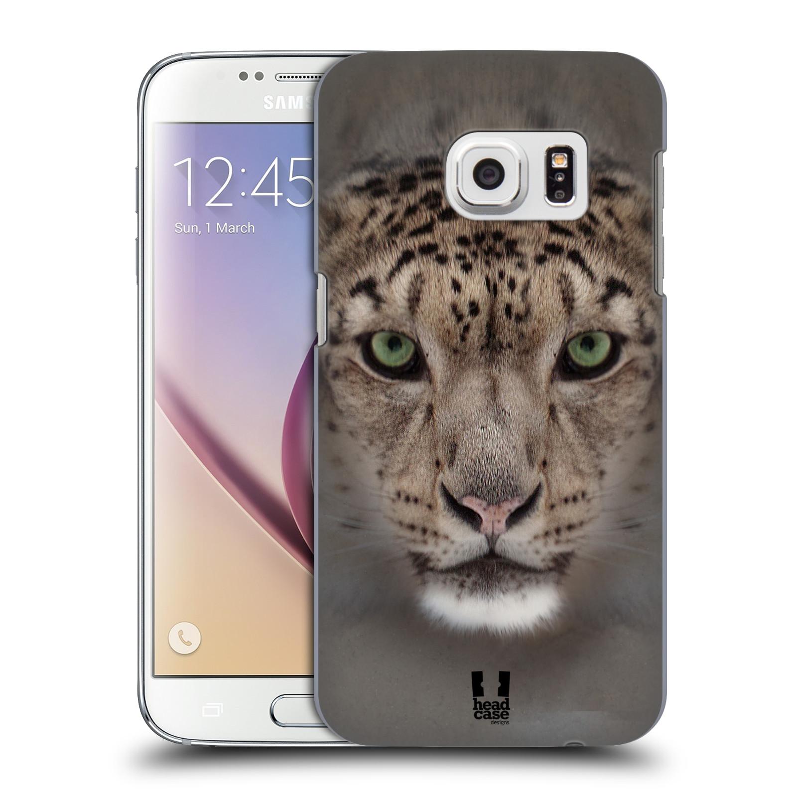 HEAD CASE plastový obal na mobil SAMSUNG GALAXY S7 vzor Zvířecí tváře 2 sněžný leopard