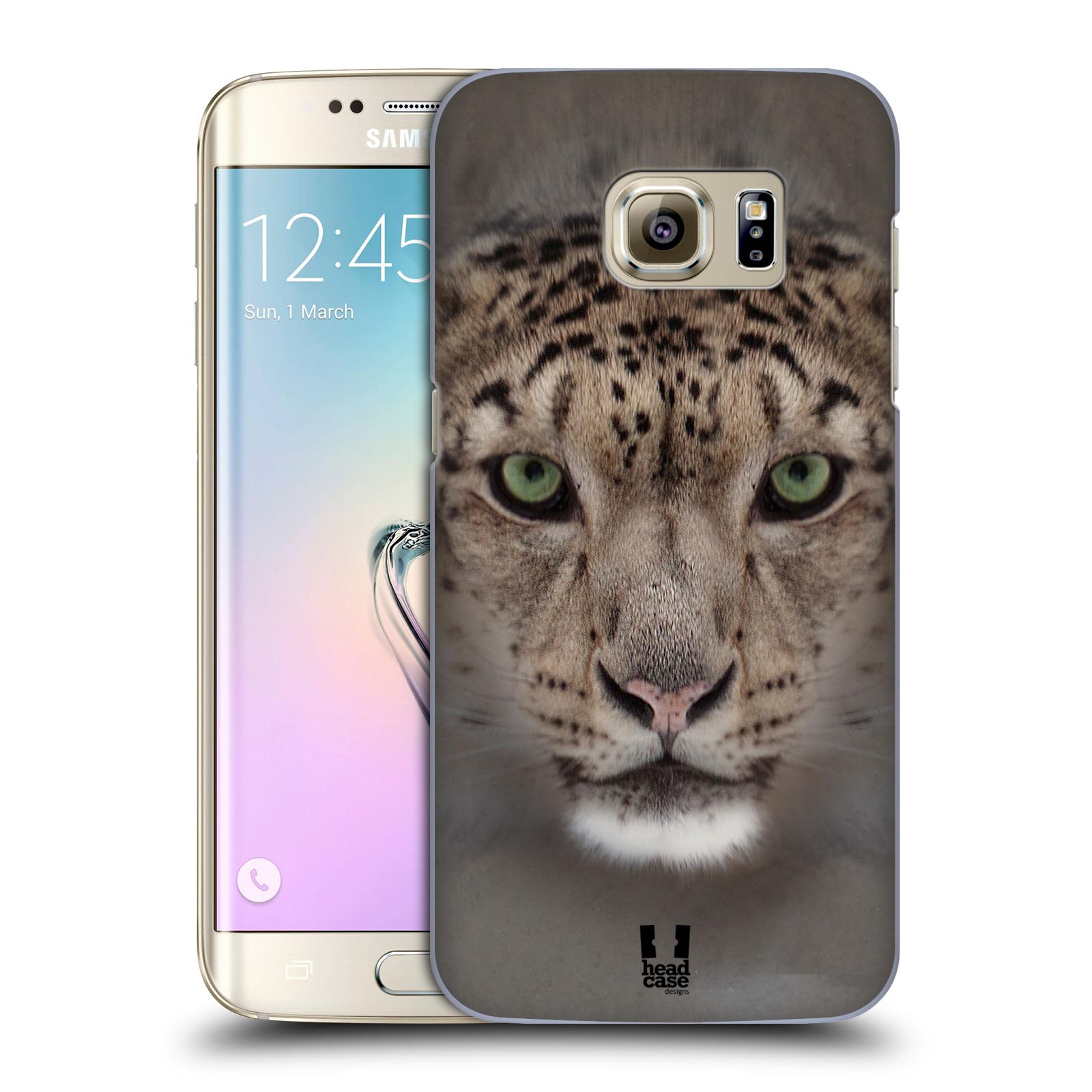 HEAD CASE plastový obal na mobil SAMSUNG GALAXY S7 EDGE vzor Zvířecí tváře 2 sněžný leopard