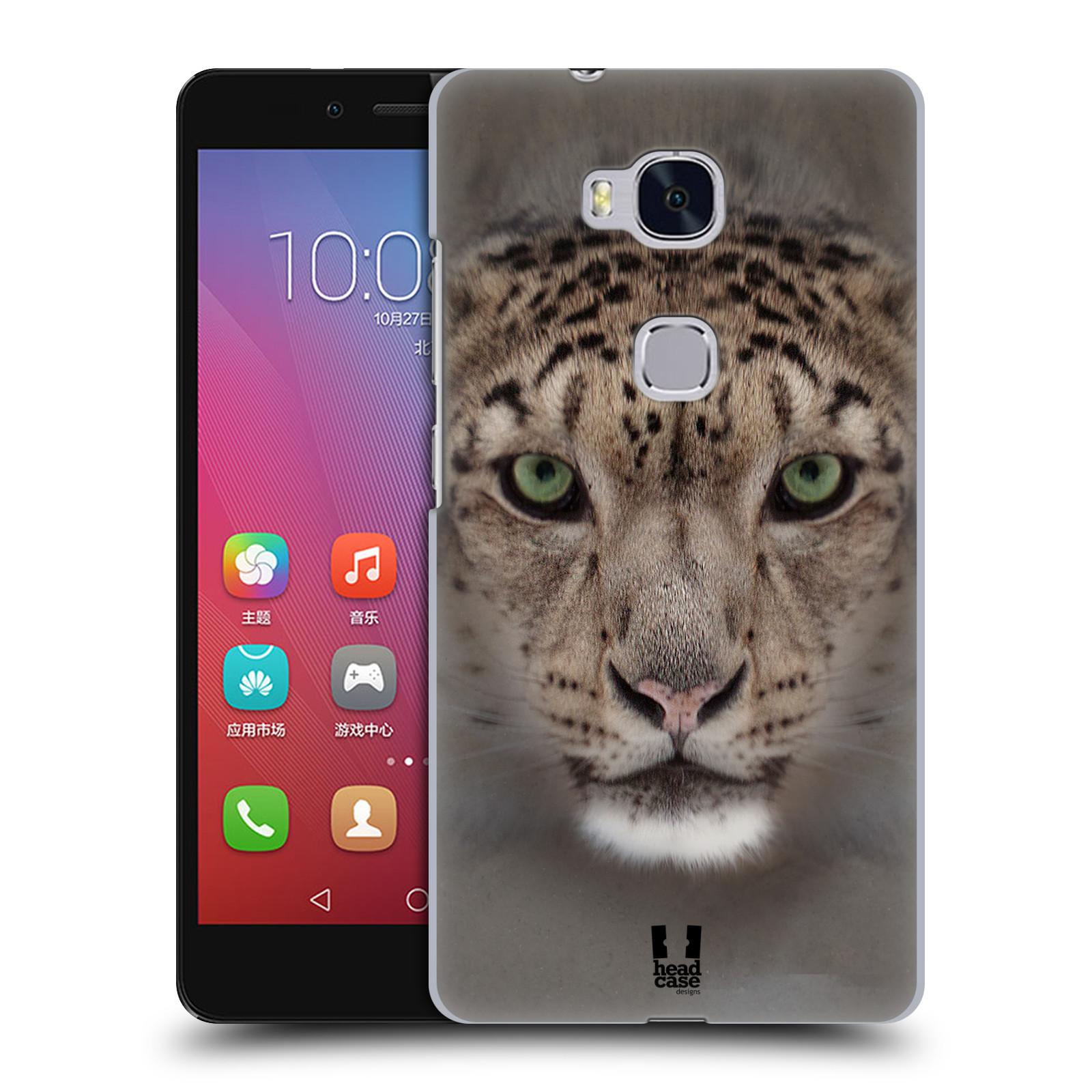 HEAD CASE pevný plastový obal na mobil HUAWEI HONOR 5X vzor Zvířecí tváře 2 sněžný leopard