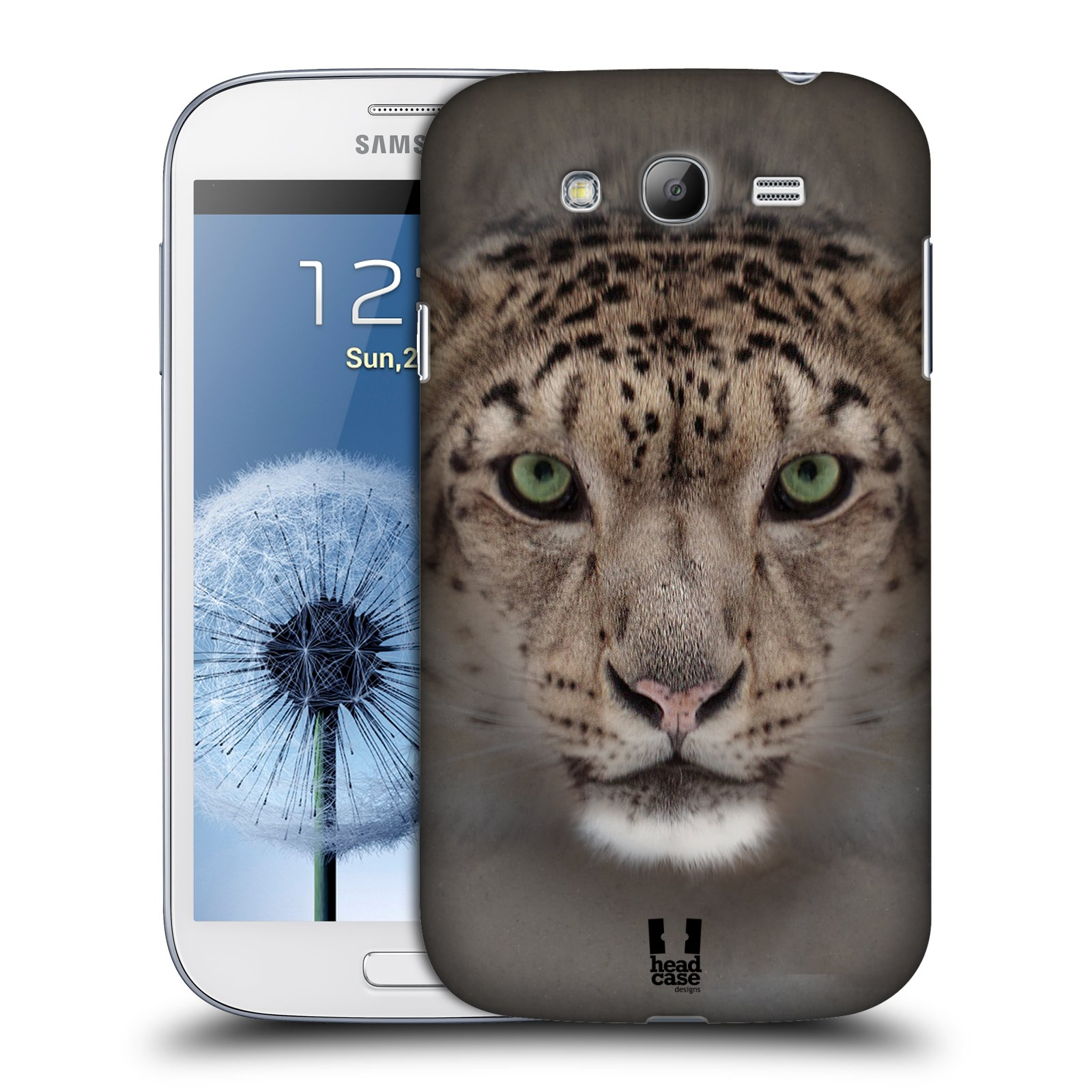 HEAD CASE plastový obal na mobil SAMSUNG GALAXY Grand i9080 vzor Zvířecí tváře 2 sněžný leopard