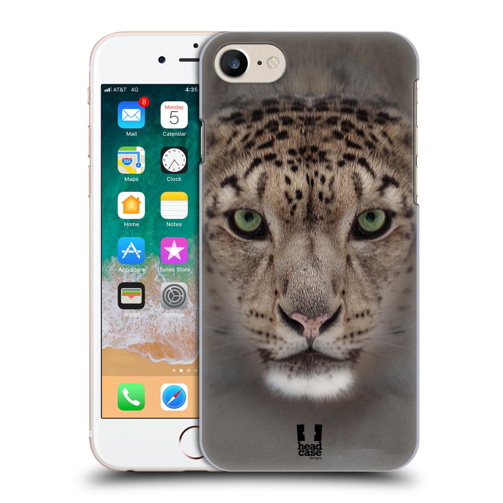 HEAD CASE plastový obal na mobil Apple Iphone 7 vzor Zvířecí tváře 2 sněžný leopard