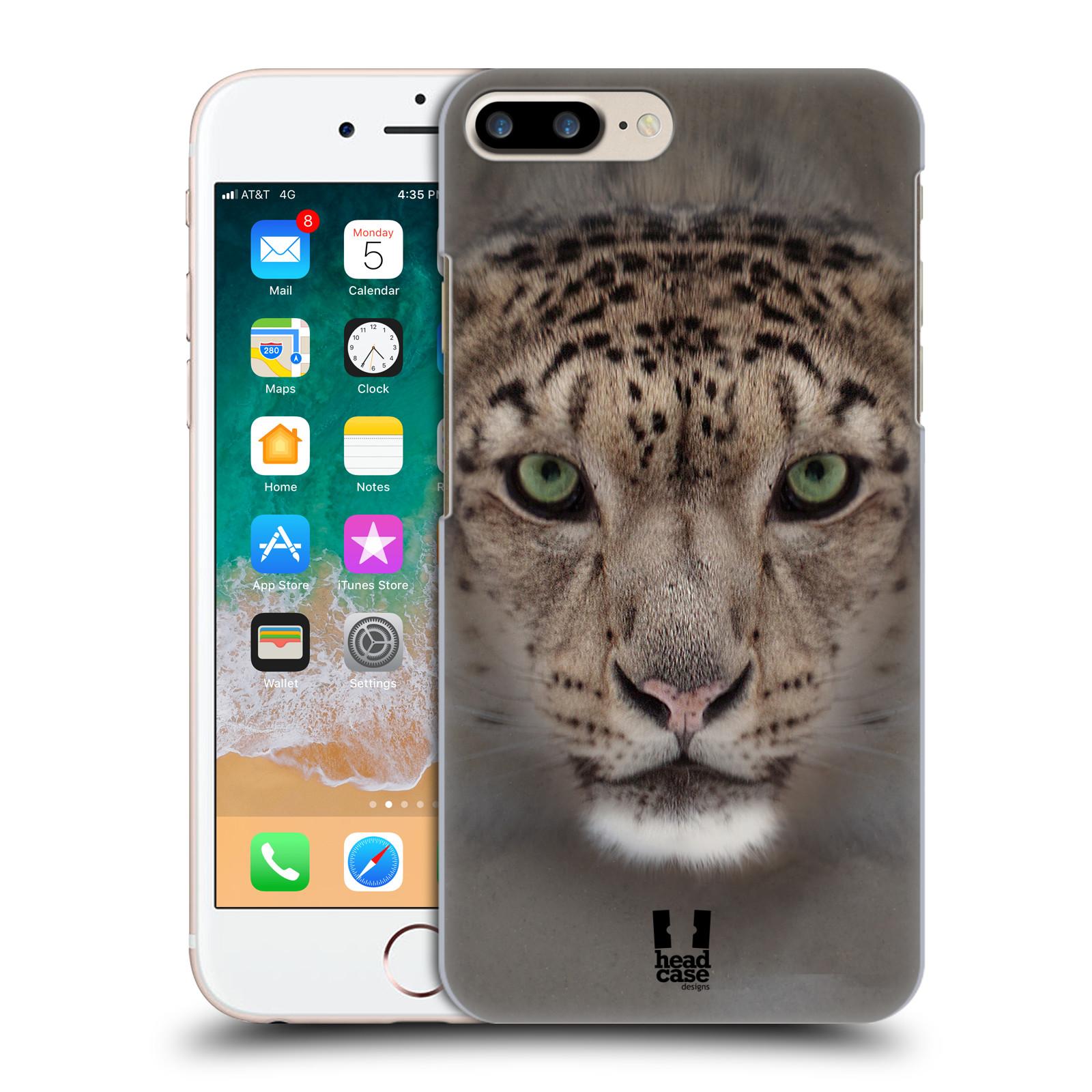 HEAD CASE plastový obal na mobil Apple Iphone 7 PLUS vzor Zvířecí tváře 2 sněžný leopard