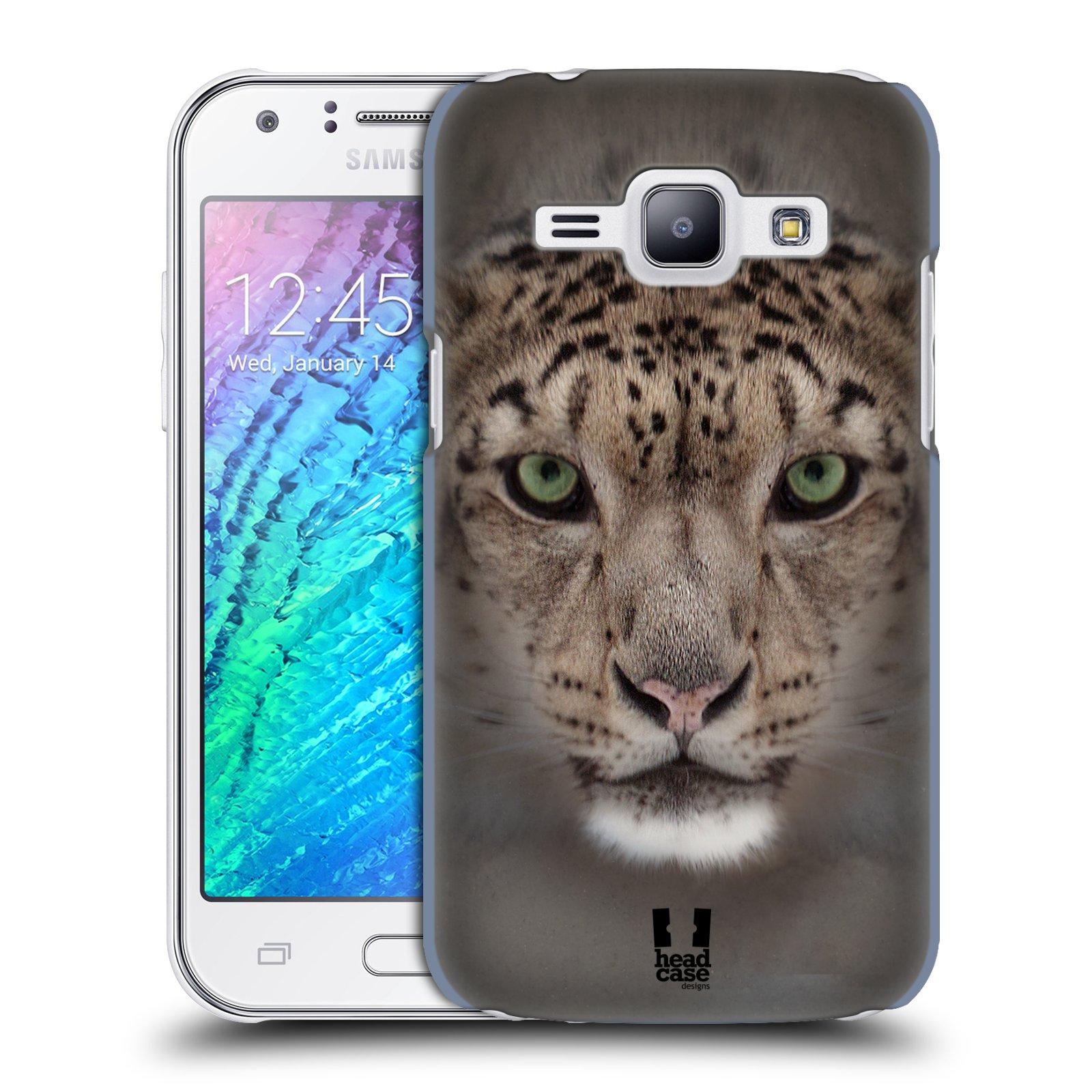 HEAD CASE plastový obal na mobil SAMSUNG Galaxy J1, J100 vzor Zvířecí tváře 2 sněžný leopard