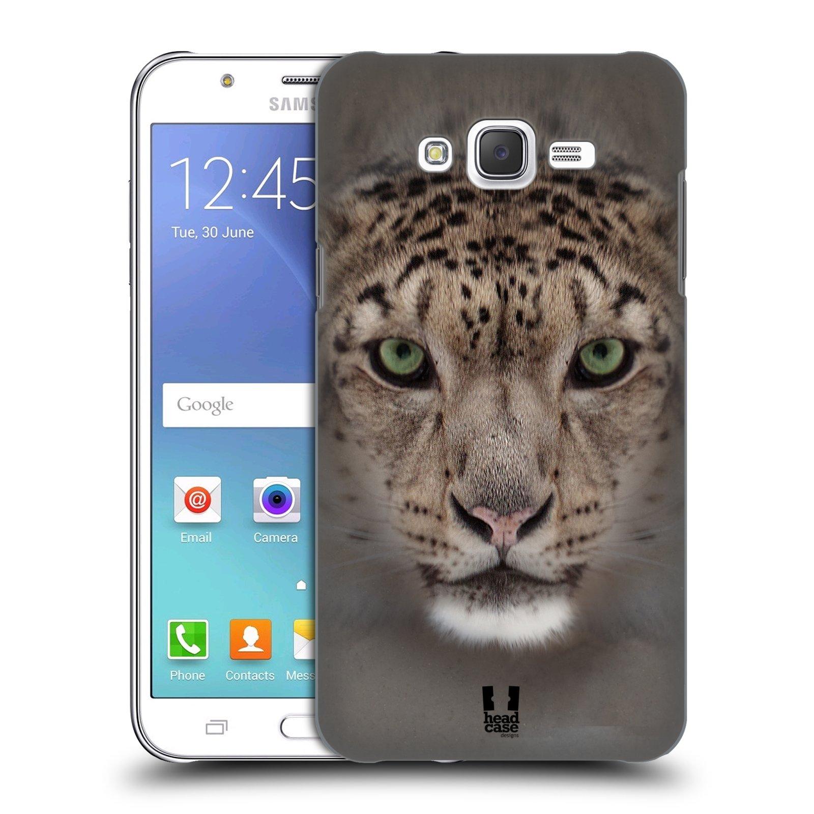 HEAD CASE plastový obal na mobil SAMSUNG Galaxy J7, J700 vzor Zvířecí tváře 2 sněžný leopard
