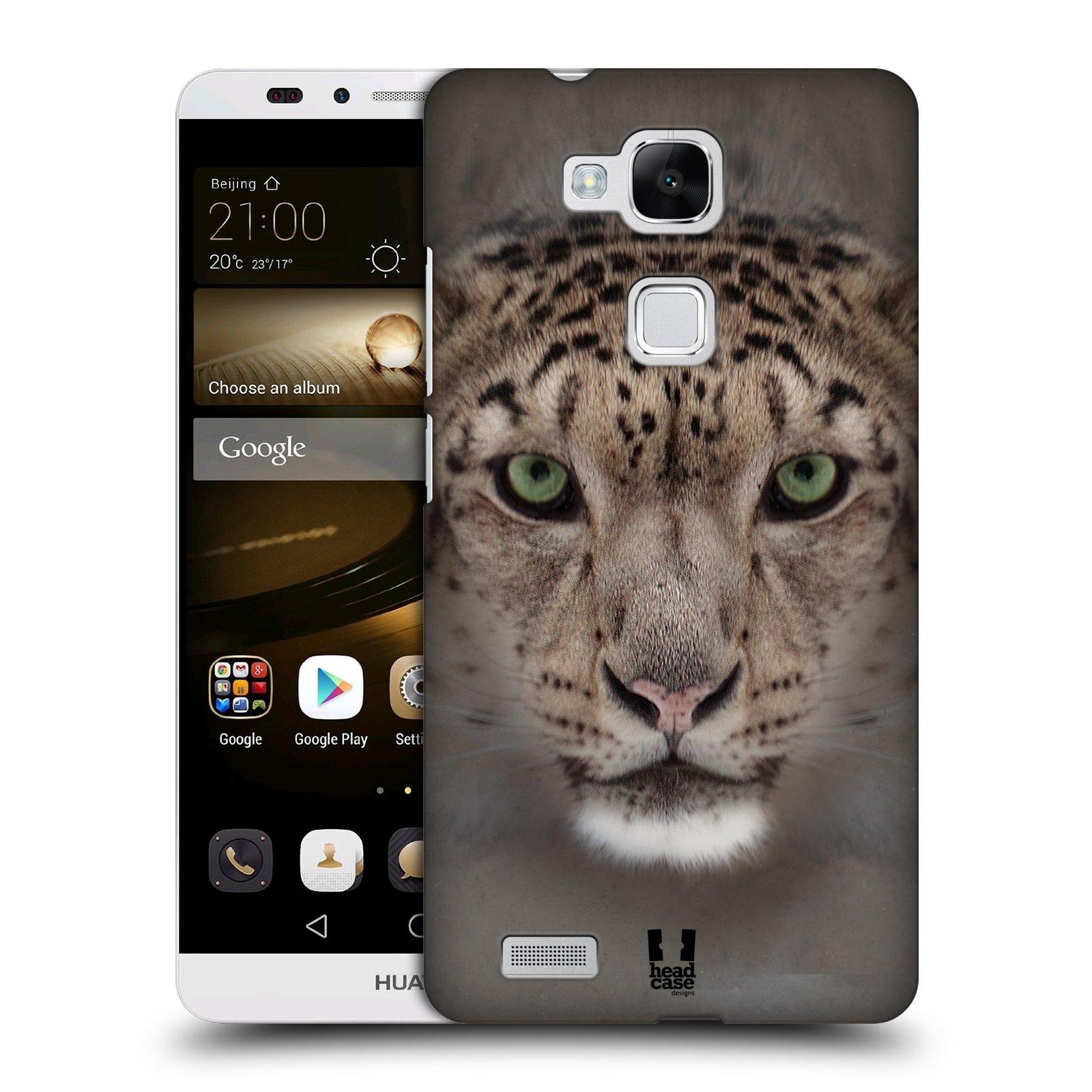 HEAD CASE plastový obal na mobil Huawei Mate 7 vzor Zvířecí tváře 2 sněžný leopard