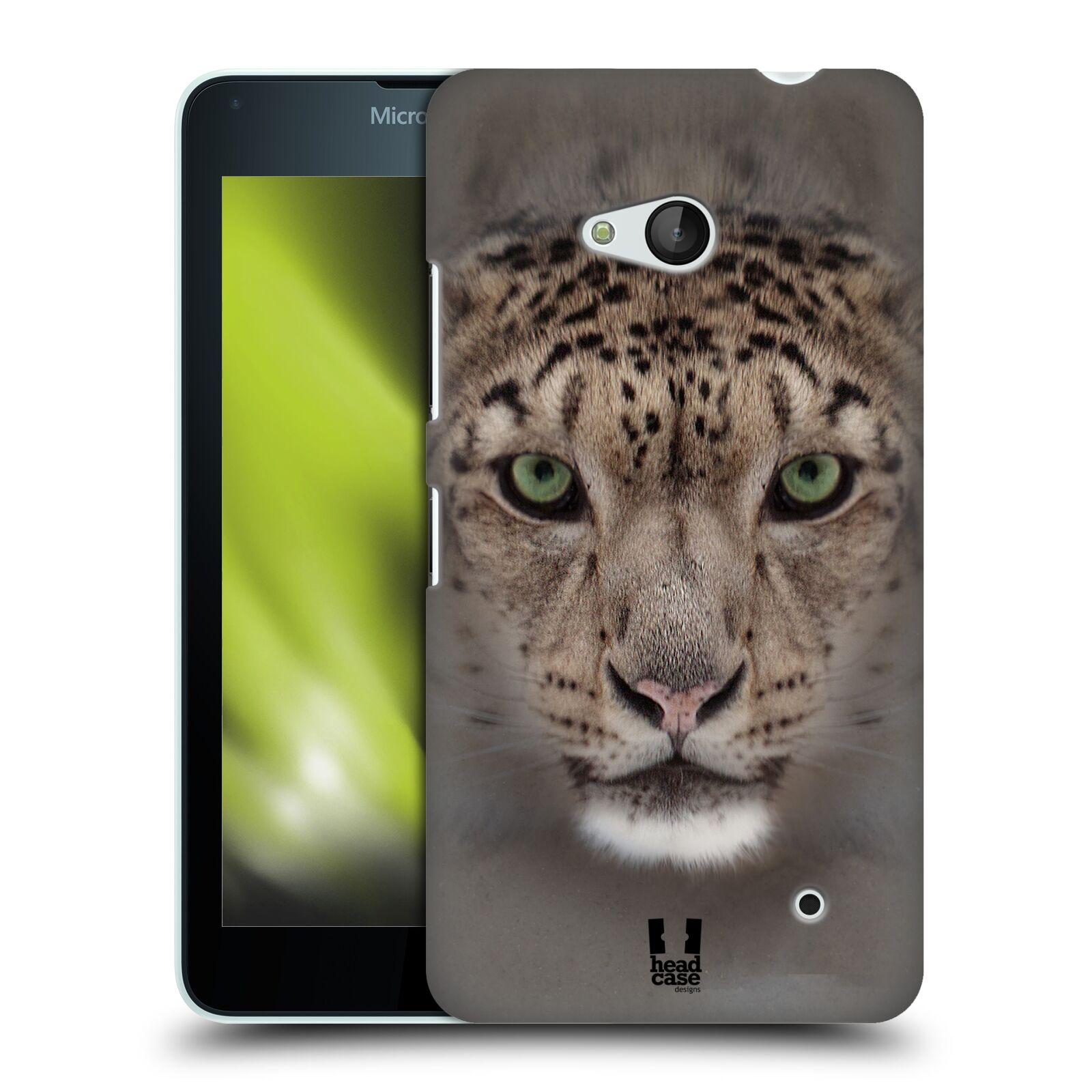 HEAD CASE plastový obal na mobil Nokia Lumia 640 vzor Zvířecí tváře 2 sněžný leopard