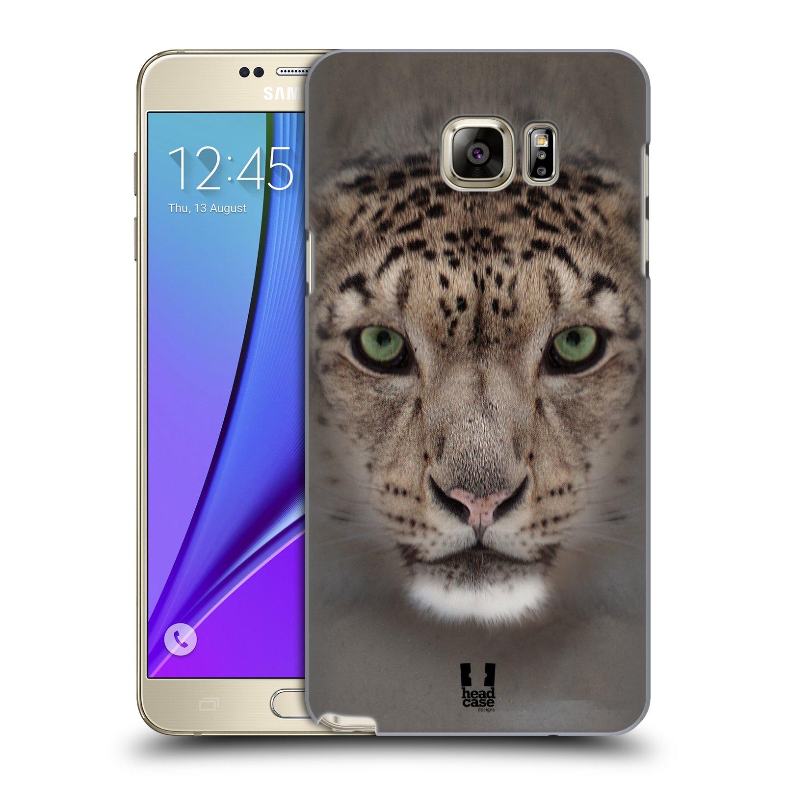 HEAD CASE plastový obal na mobil SAMSUNG Galaxy Note 5 (N920) vzor Zvířecí tváře 2 sněžný leopard