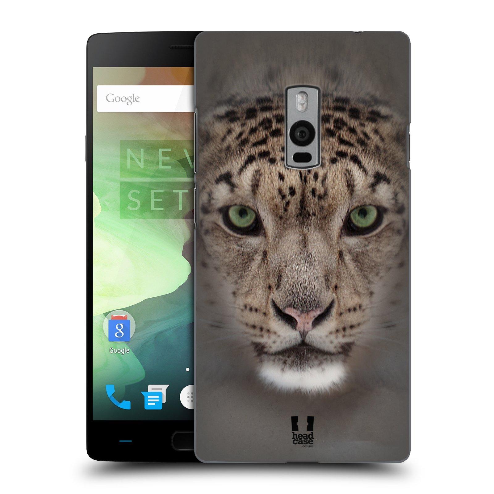 HEAD CASE pevný plastový obal na mobil OnePlus 2  ( TWO ) vzor Zvířecí tváře 2 sněžný leopard