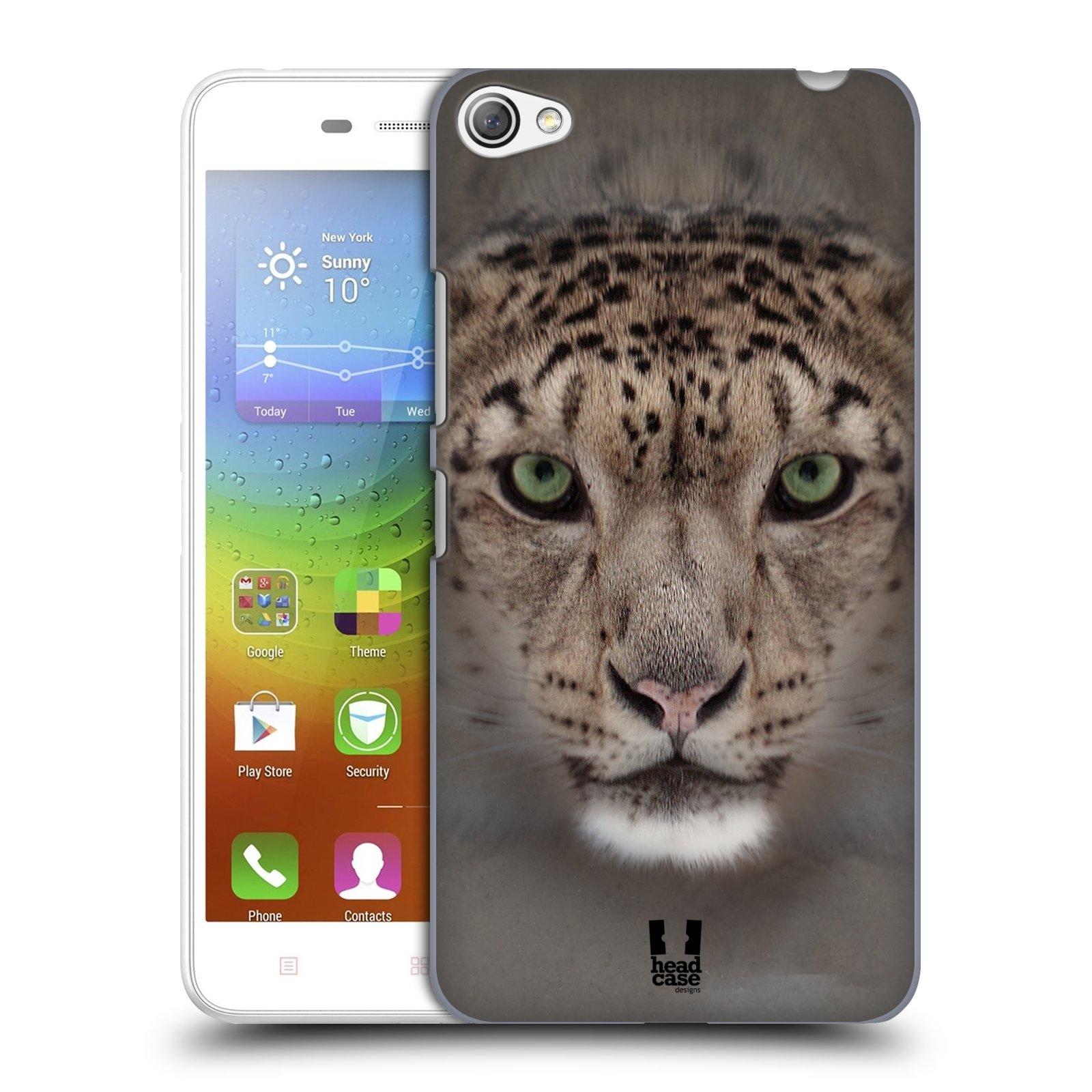 HEAD CASE pevný plastový obal na mobil LENOVO S60 / LENOVO S60 DUAL SIM vzor Zvířecí tváře 2 sněžný leopard