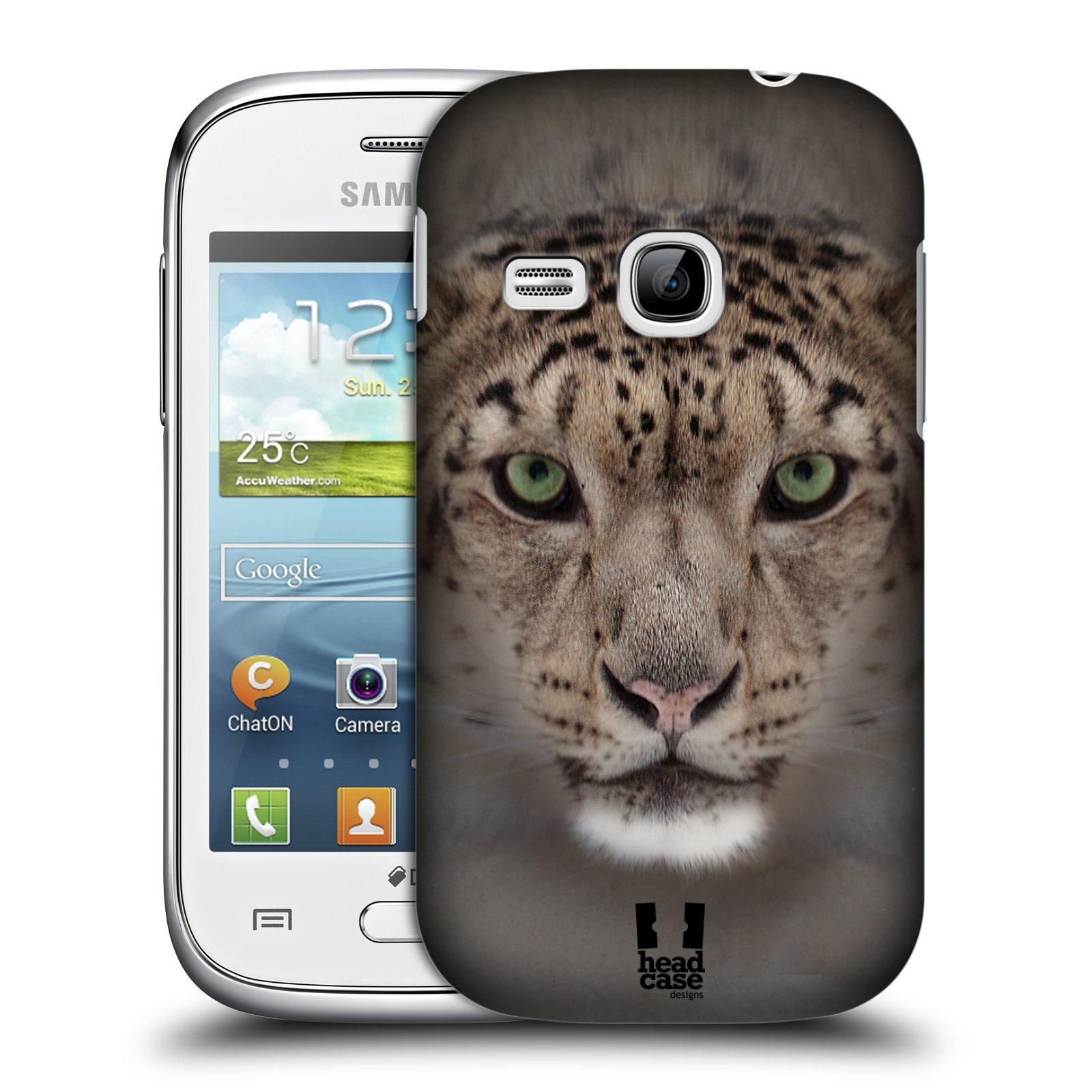 HEAD CASE plastový obal na mobil SAMSUNG Galaxy Young S6310 vzor Zvířecí tváře 2 sněžný leopard