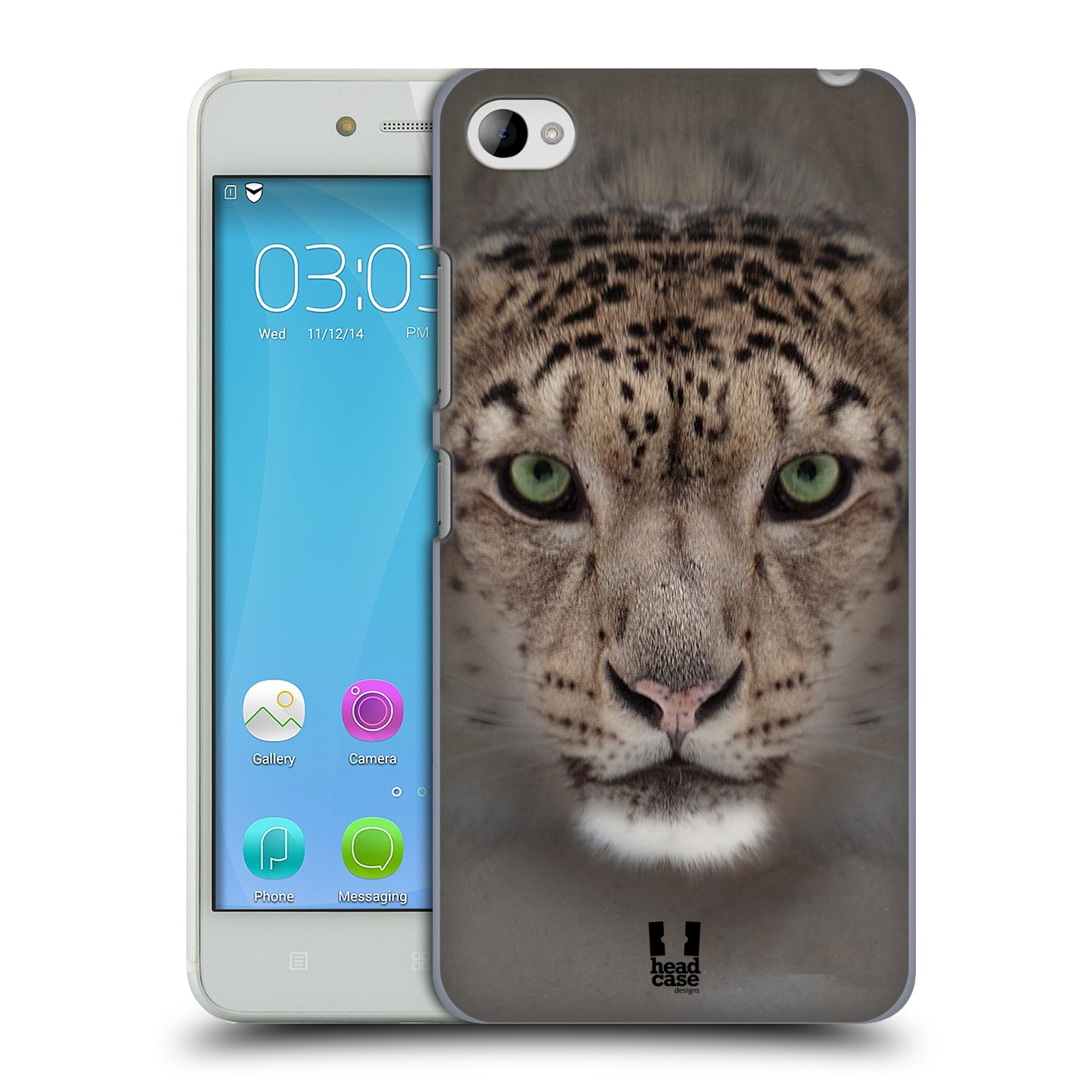 HEAD CASE pevný plastový obal na mobil LENOVO S90 vzor Zvířecí tváře 2 sněžný leopard