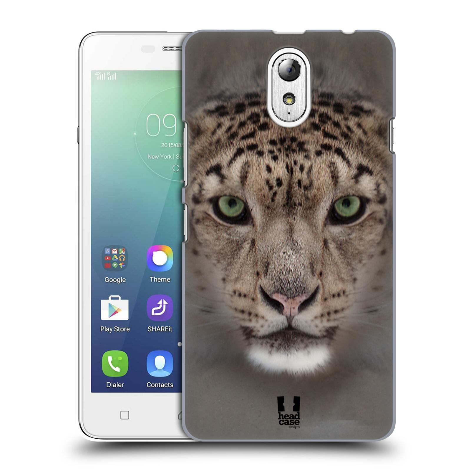 HEAD CASE pevný plastový obal na mobil LENOVO VIBE P1m / LENOVO VIBE p1m DUAL SIM vzor Zvířecí tváře 2 sněžný leopard