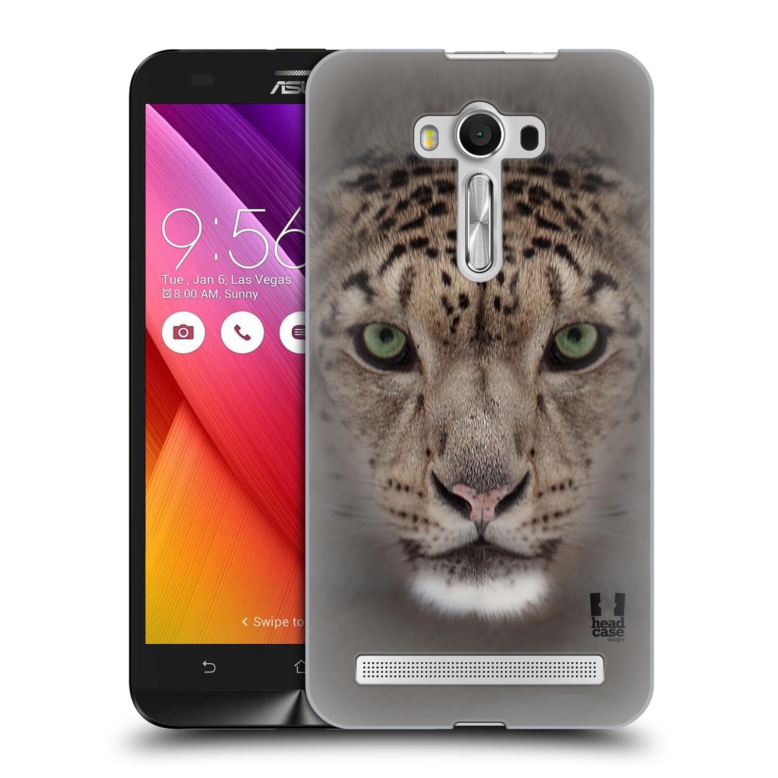 HEAD CASE plastový obal na mobil Asus Zenfone 2 LASER (5,5 displej ZE550KL) vzor Zvířecí tváře 2 sněžný leopard