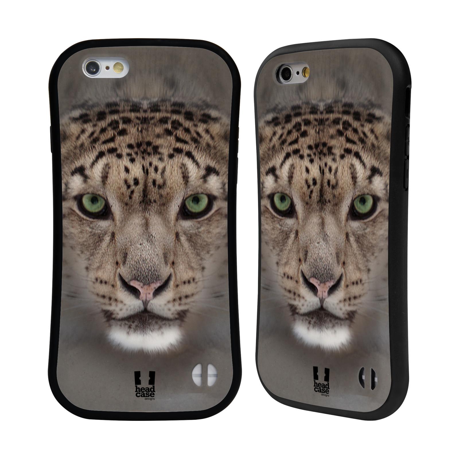 HEAD CASE silikon/plast odolný obal na mobil Apple Iphone 6/6S vzor Zvířecí tváře 2 sněžný leopard