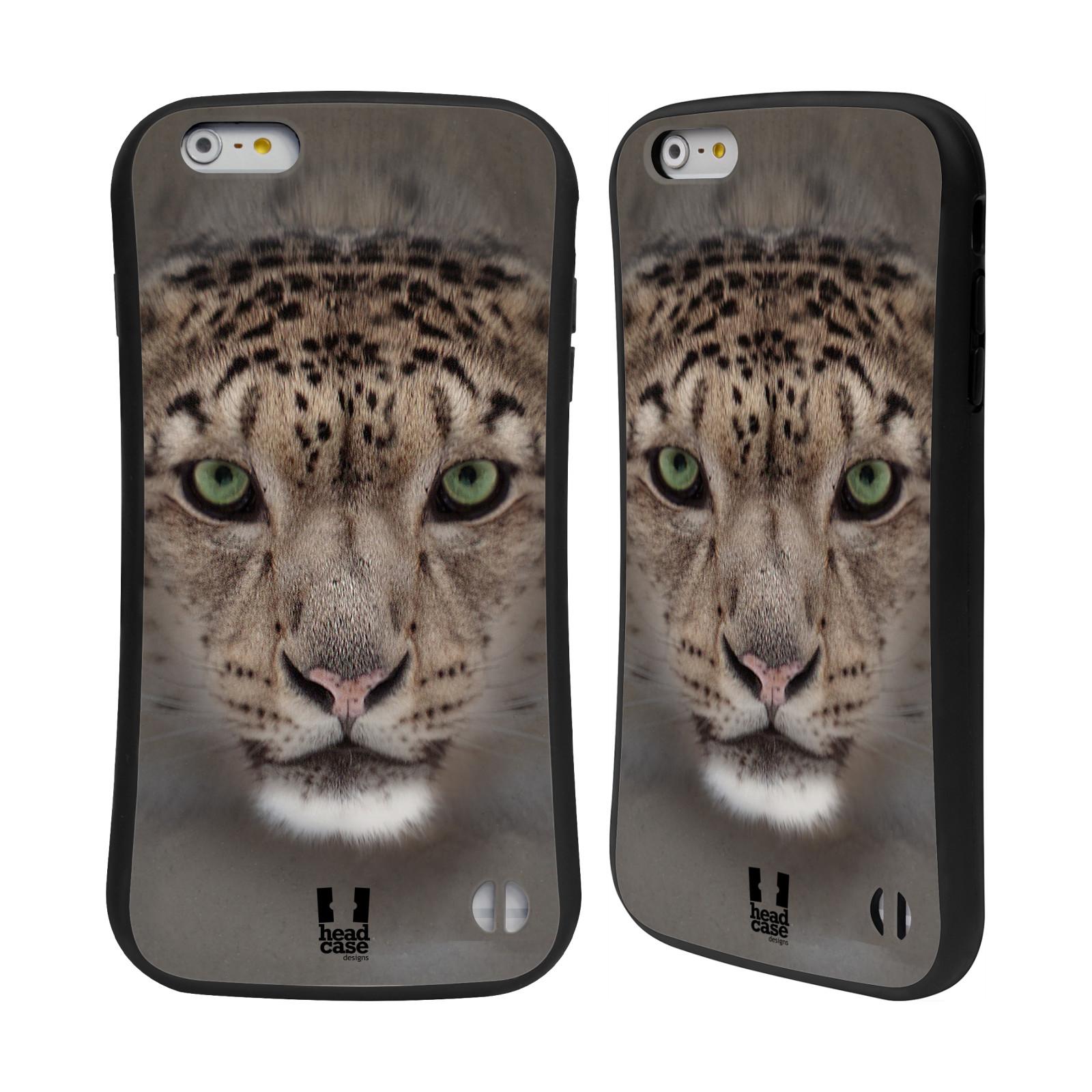 HEAD CASE silikon/plast odolný obal na mobil Apple Iphone 6 PLUS / 6S PLUS vzor Zvířecí tváře 2 sněžný leopard