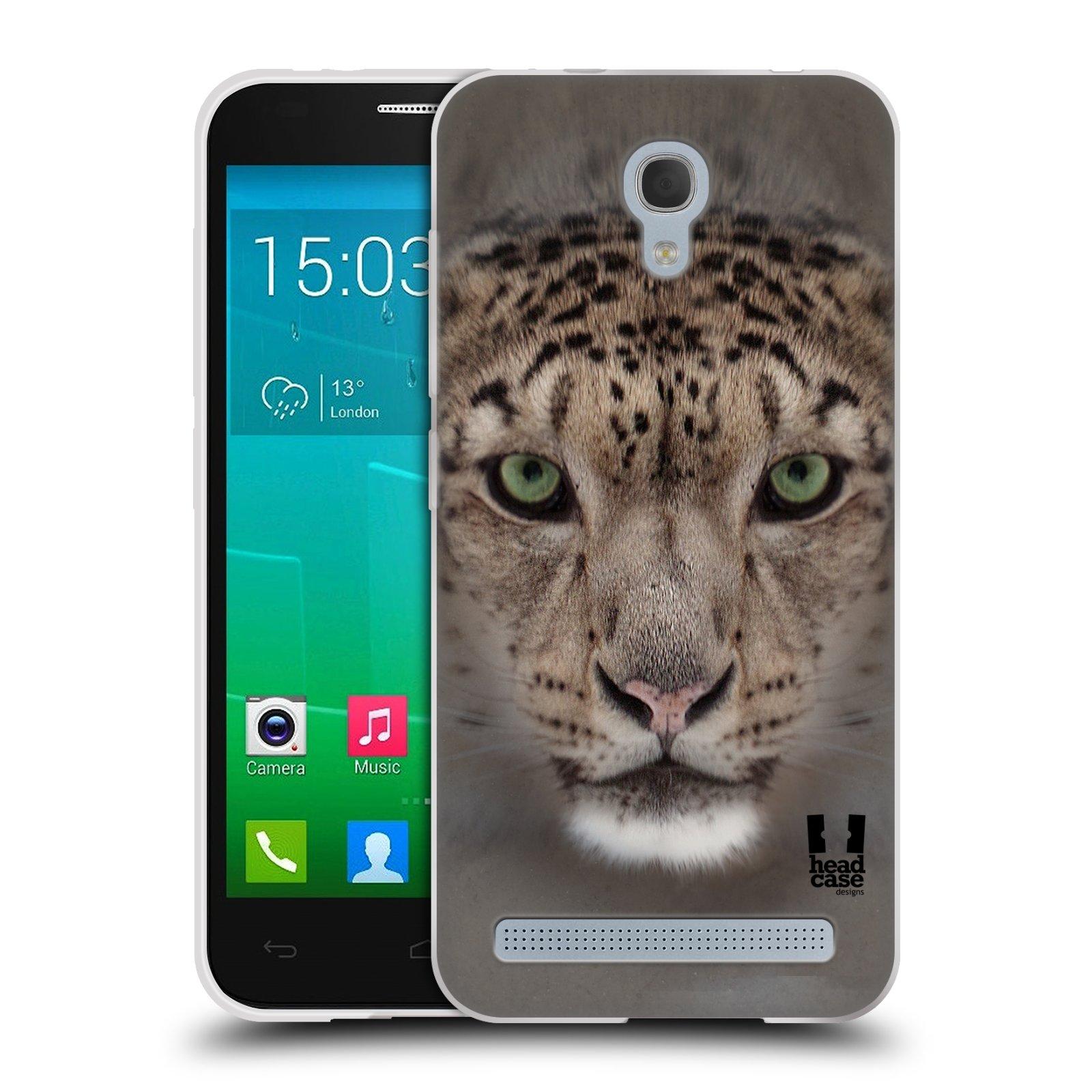HEAD CASE silikonový obal na mobil Alcatel Idol 2 MINI S 6036Y vzor Zvířecí tváře 2 sněžný leopard