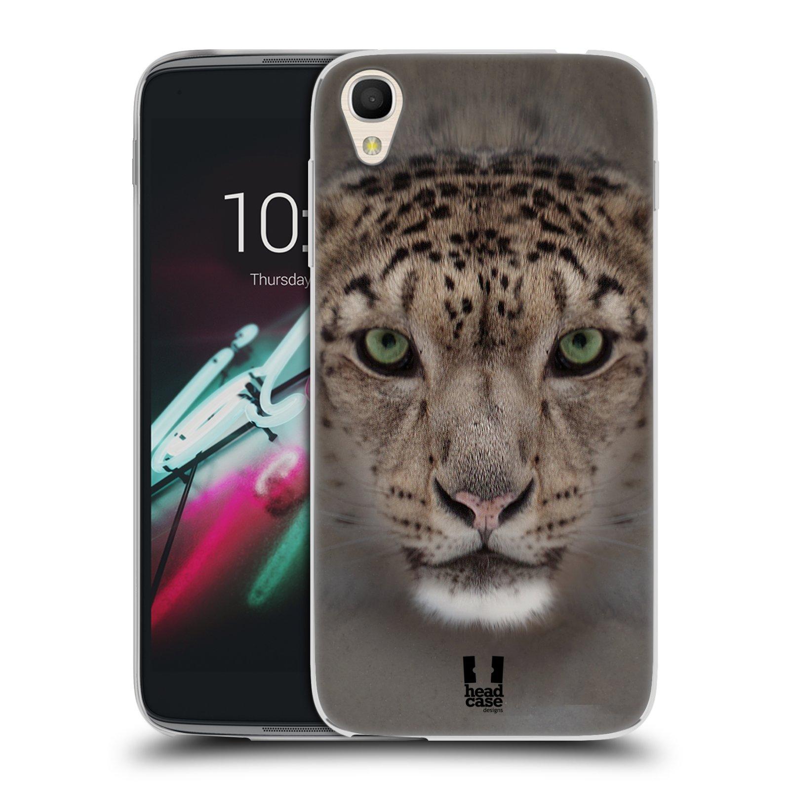 HEAD CASE silikonový obal na mobil Alcatel Idol 3 OT-6039Y (4.7) vzor Zvířecí tváře 2 sněžný leopard