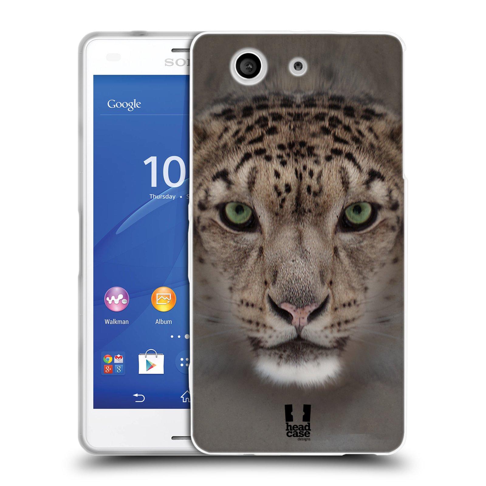 HEAD CASE silikonový obal na mobil Sony Xperia Z3 COMPACT (D5803) vzor Zvířecí tváře 2 sněžný leopard