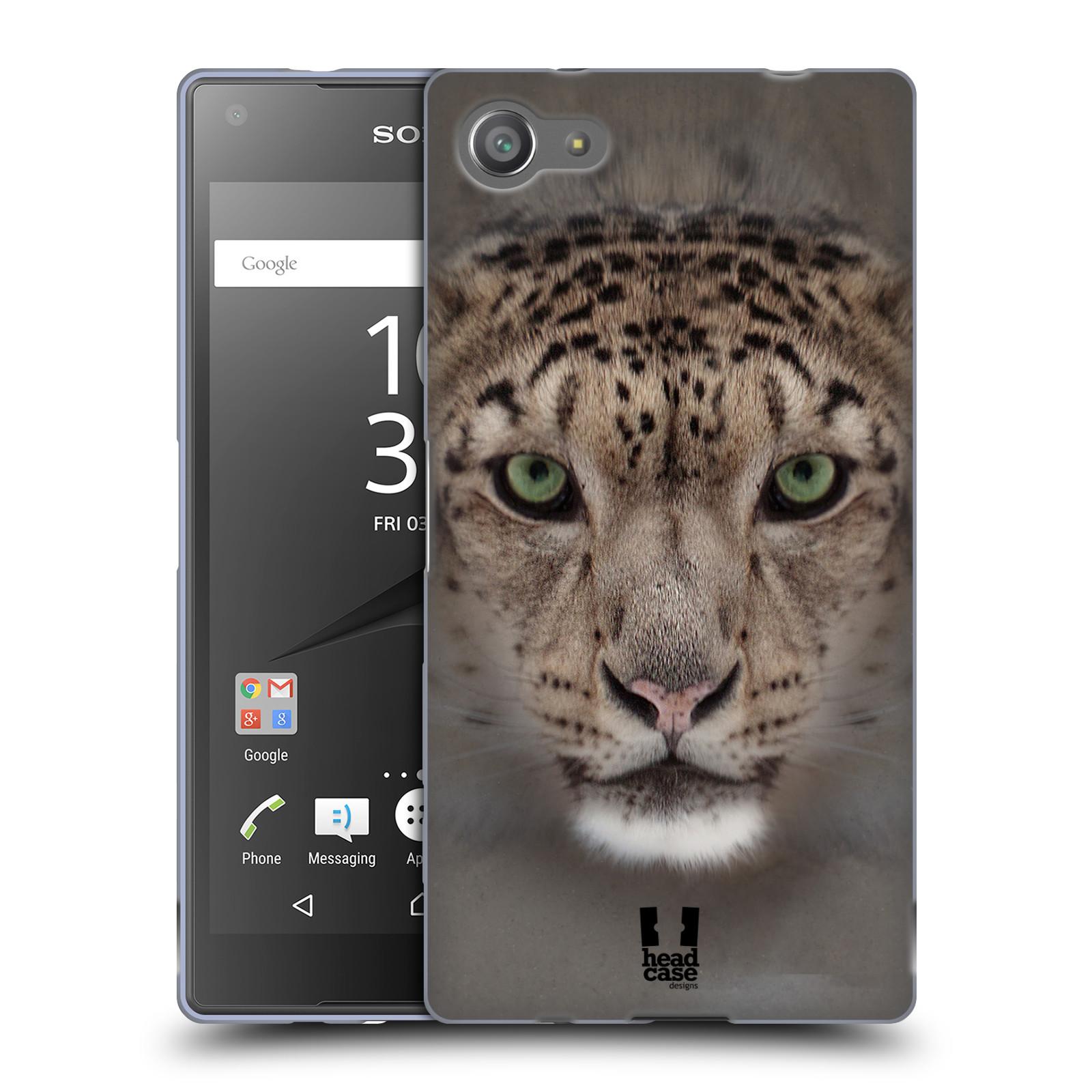 HEAD CASE silikonový obal na mobil Sony Xperia Z5 COMPACT vzor Zvířecí tváře 2 sněžný leopard