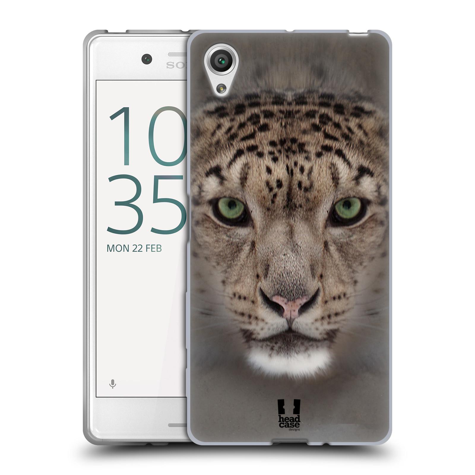 HEAD CASE silikonový obal na mobil Sony Xperia X / X DUAL vzor Zvířecí tváře 2 sněžný leopard