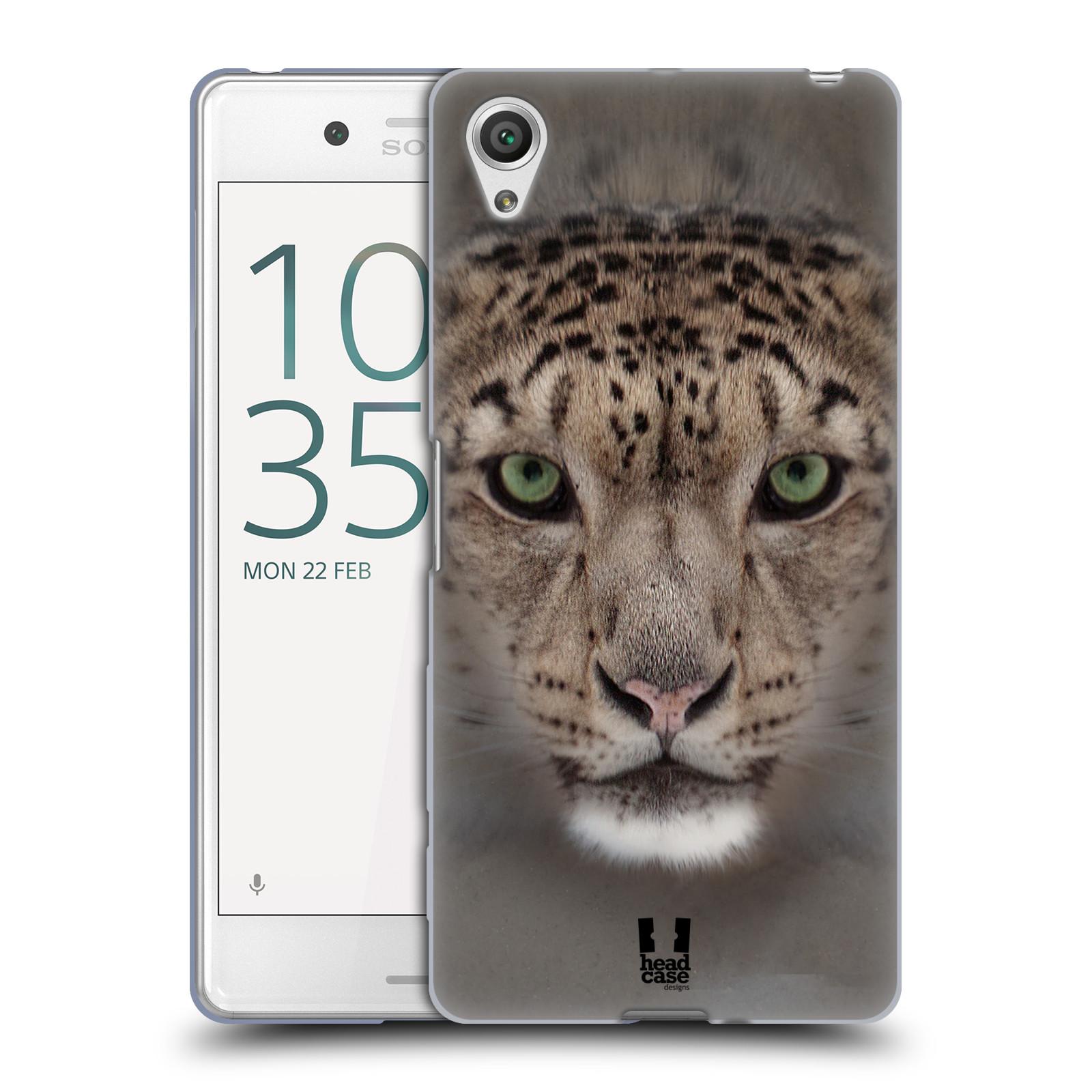 HEAD CASE silikonový obal na mobil Sony Xperia X PERFORMANCE (F8131, F8132) vzor Zvířecí tváře 2 sněžný leopard