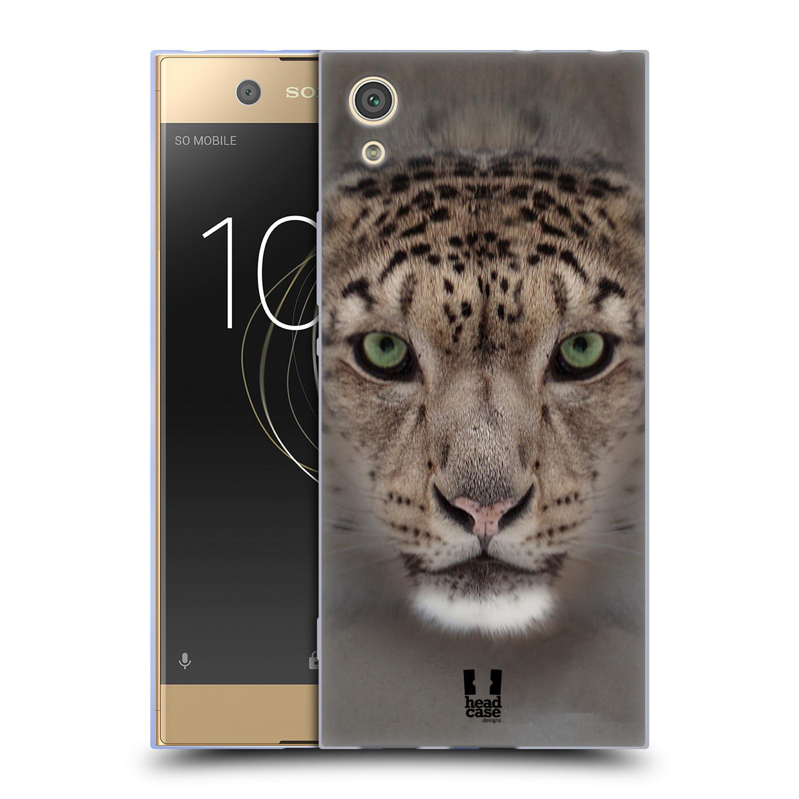 HEAD CASE silikonový obal na mobil Sony Xperia XA1 / XA1 DUAL SIM vzor Zvířecí tváře 2 sněžný leopard