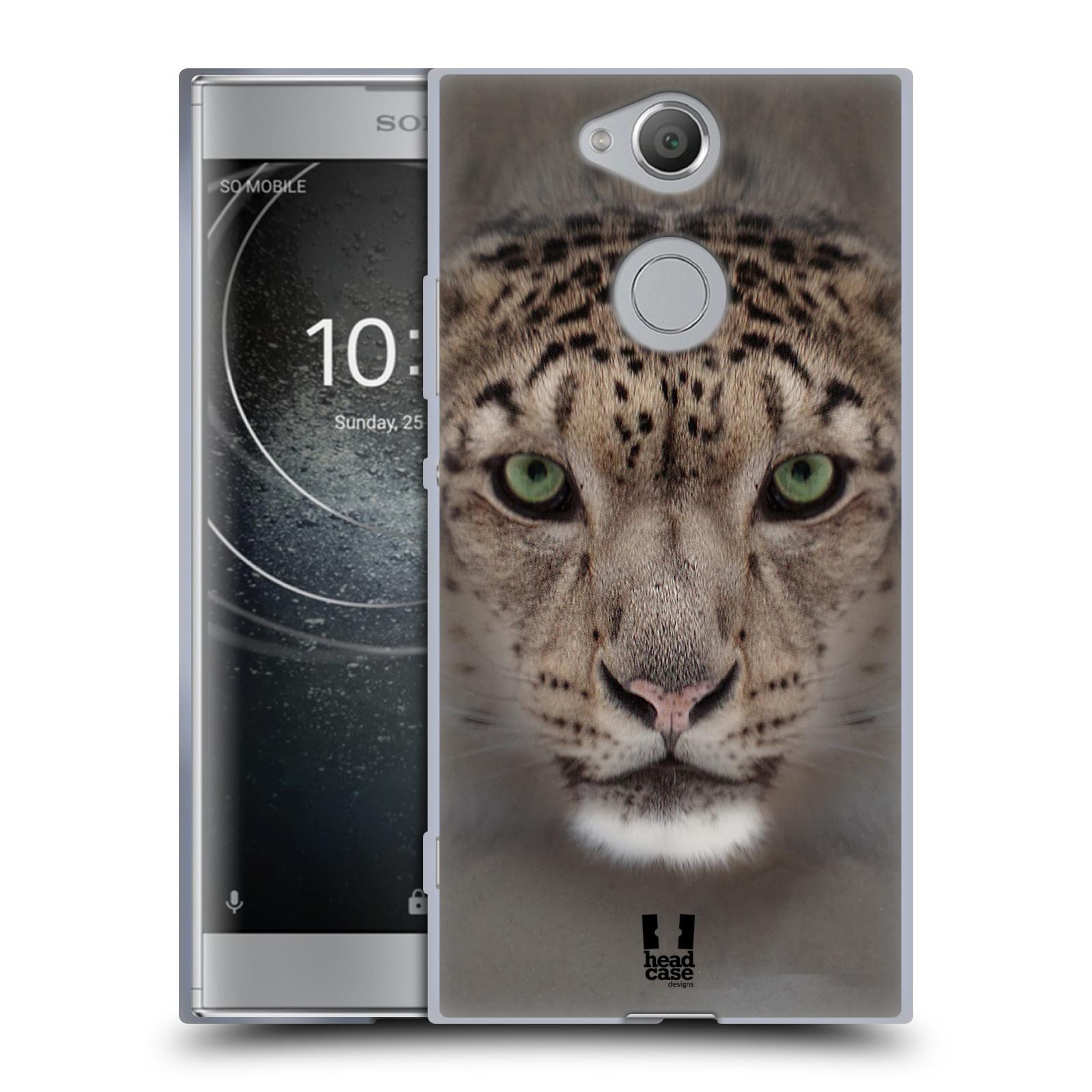 Pouzdro na mobil Sony Xperia XA2 (DUAL SIM, SINGLE SIM) vzor Zvířecí tváře 2 sněžný leopard