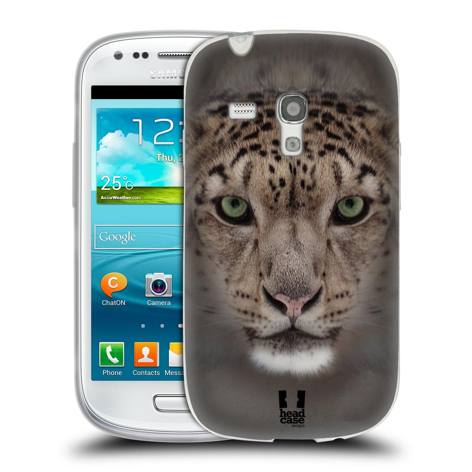 HEAD CASE silikonový obal na mobil Samsung Galaxy S3 MINI i8190 vzor Zvířecí tváře 2 sněžný leopard