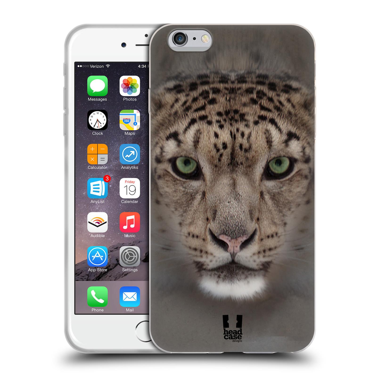 HEAD CASE silikonový obal na mobil Apple Iphone 6 PLUS/ 6S PLUS vzor Zvířecí tváře 2 sněžný leopard