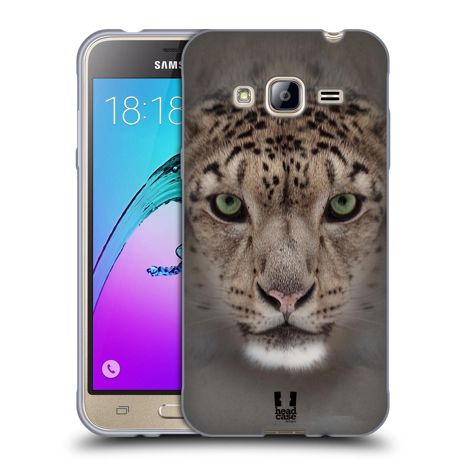 HEAD CASE silikonový obal na mobil Samsung Galaxy J3, J3 2016 vzor Zvířecí tváře 2 sněžný leopard