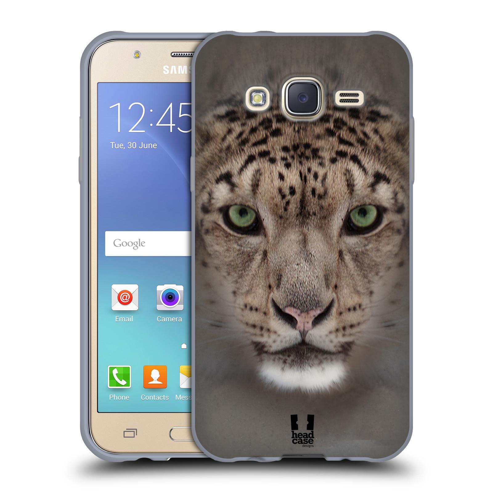 HEAD CASE silikonový obal na mobil Samsung Galaxy J5, J500, (J5 DUOS) vzor Zvířecí tváře 2 sněžný leopard
